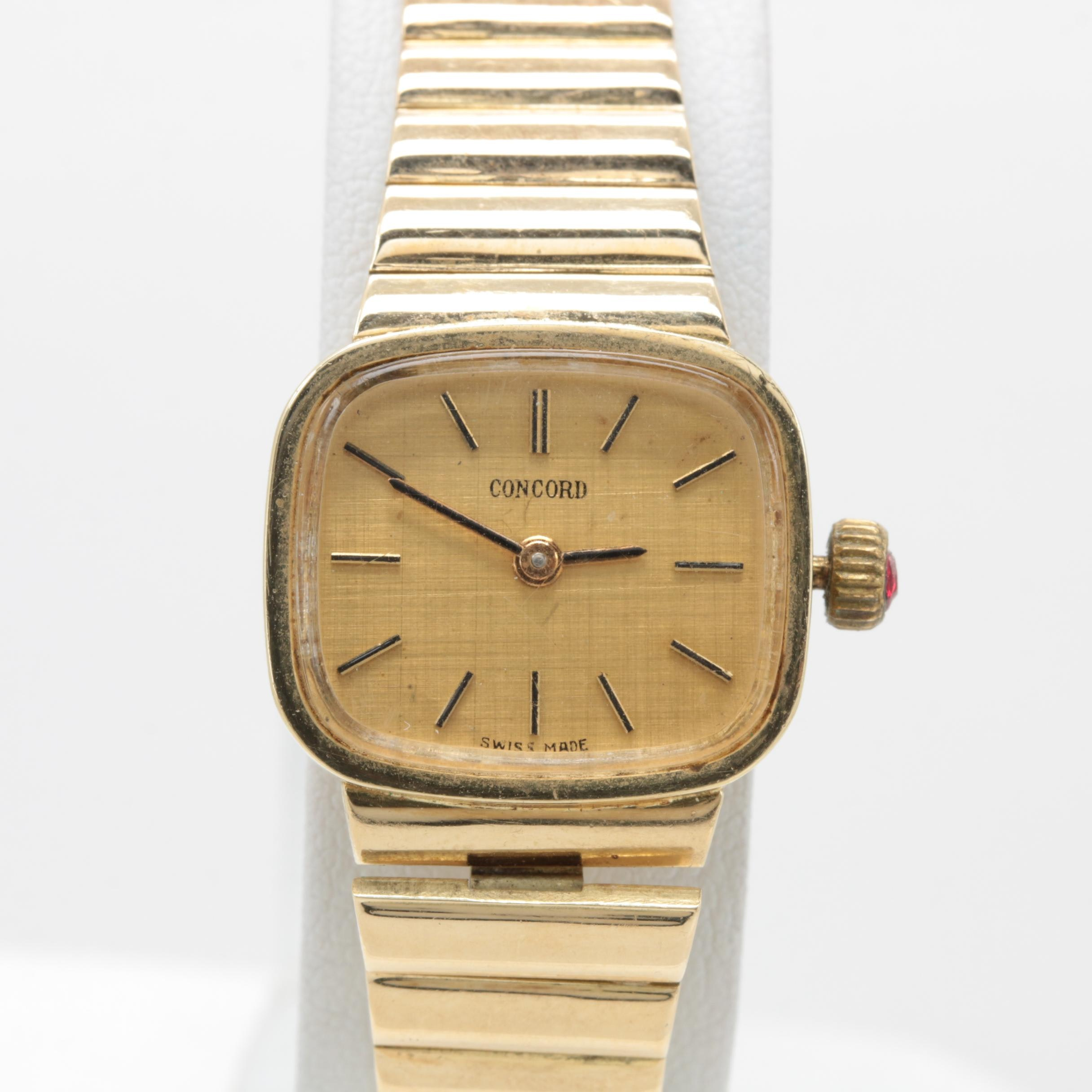 Concord 14K Yellow Gold Stem Wind Wristwatch