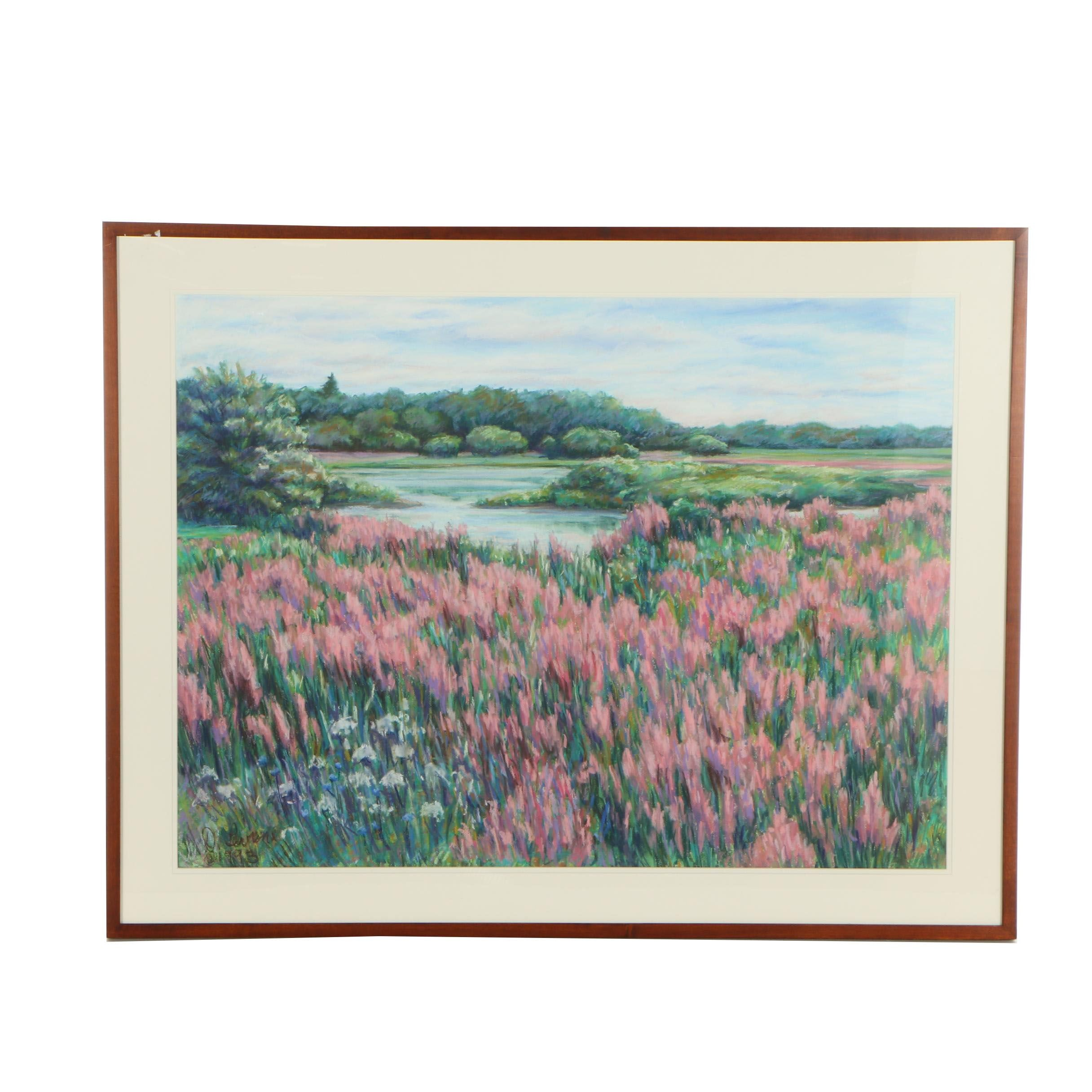 D. Levine Pastel Landscape Pastel Drawing