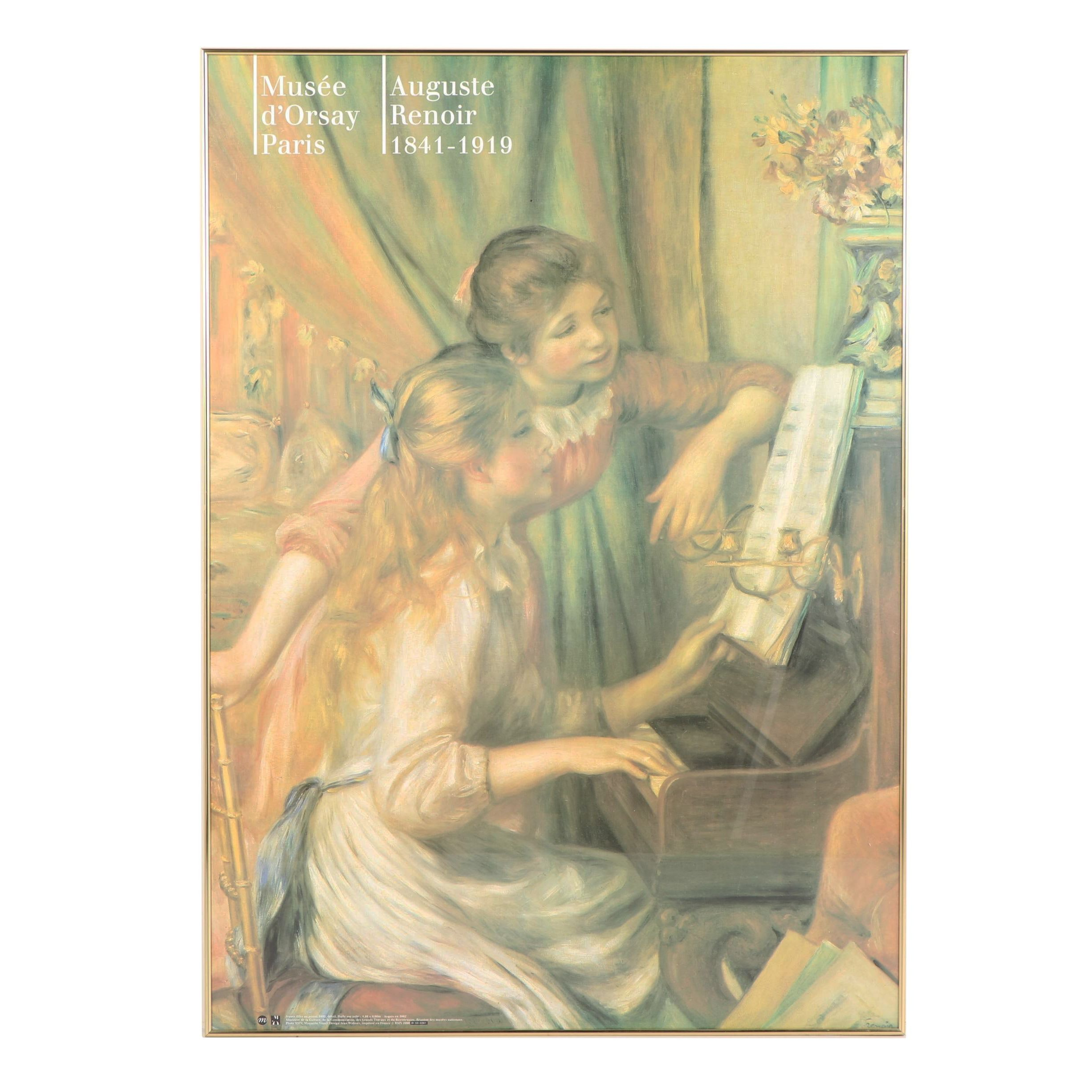 "Musée d'Orsay Offset Lithograph Poster featuring ""Two Young Girls at the Piano"""