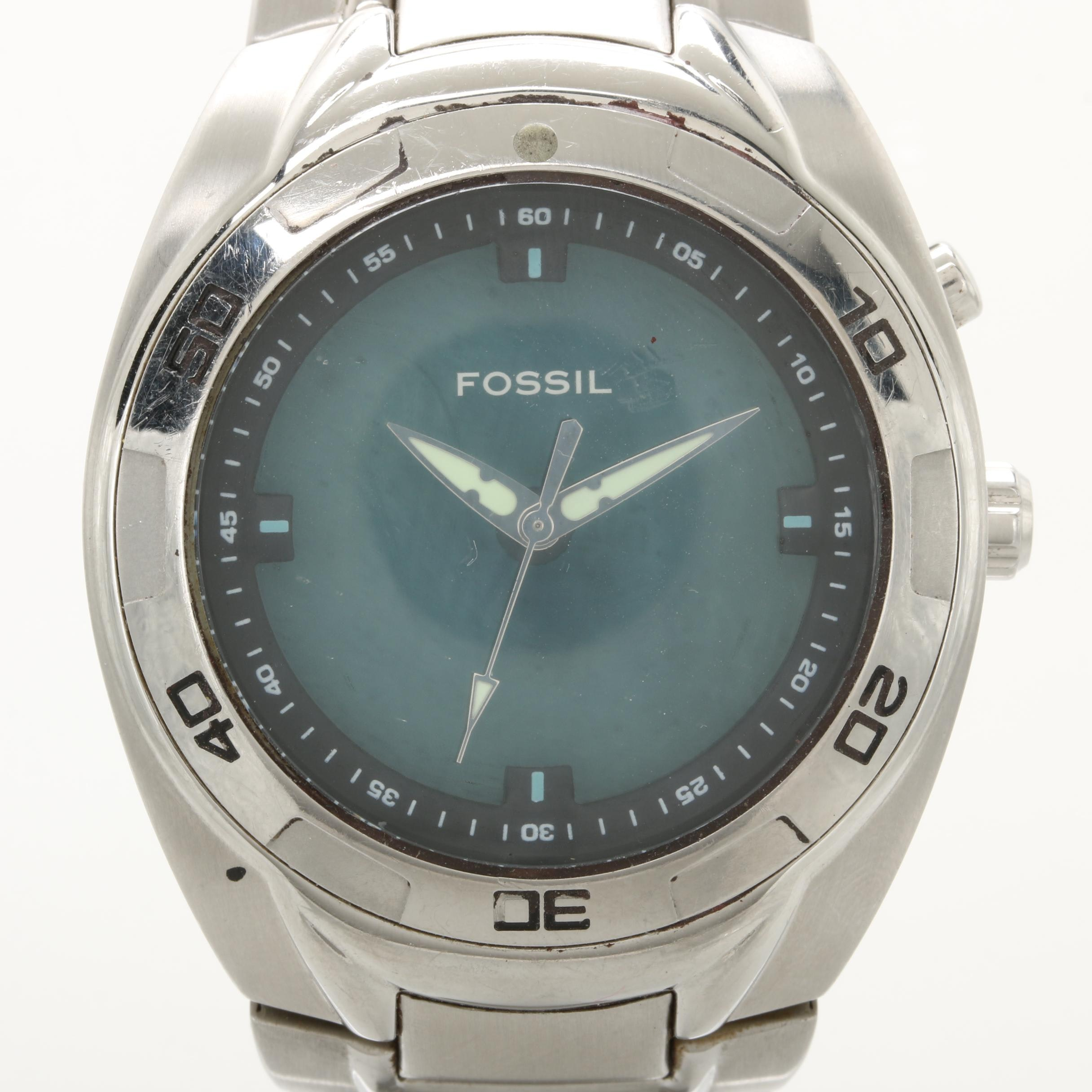 Fossil Dial Changing Background Wristwatch