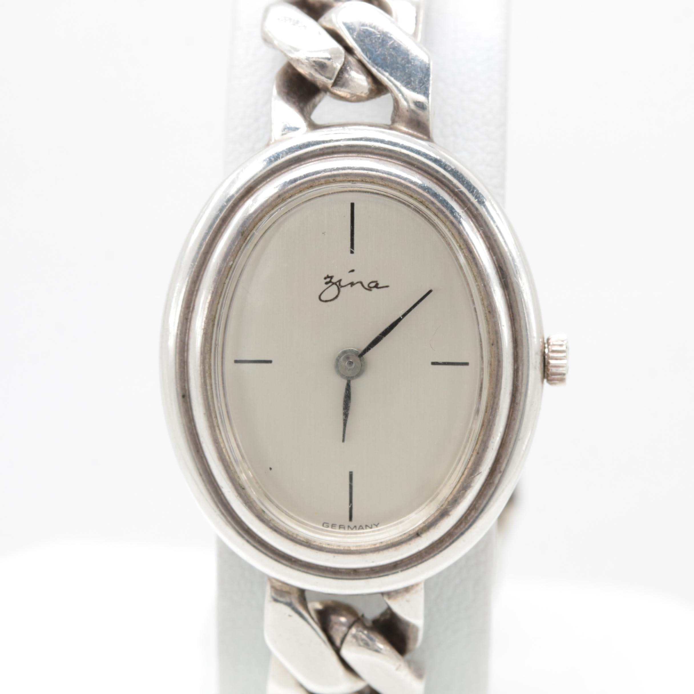 Zina Sterling Silver Wristwatch