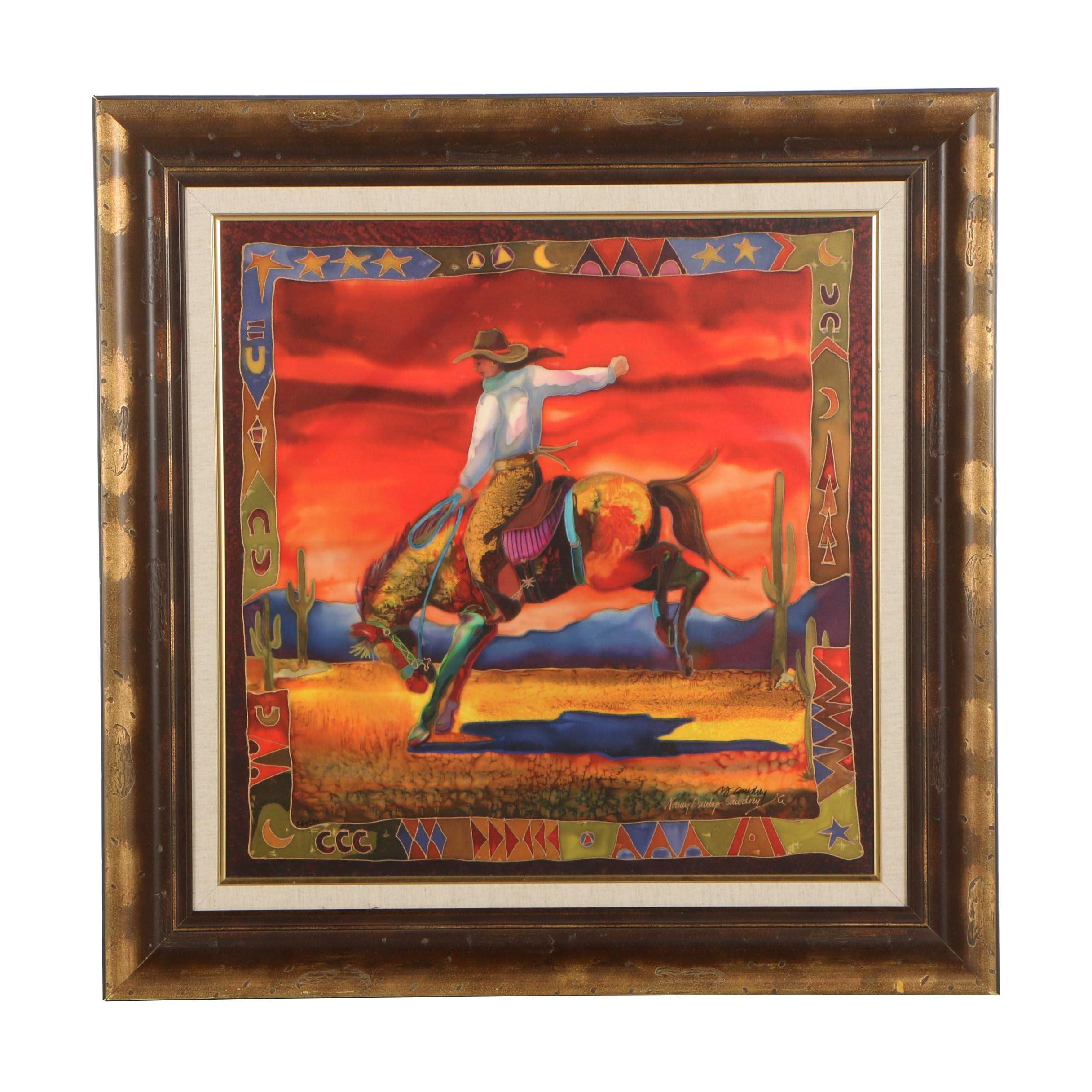 """Nancy Dunlop Cawdrey Limited Edition Offset Lithograph """"Desert Rein Dance"""""""