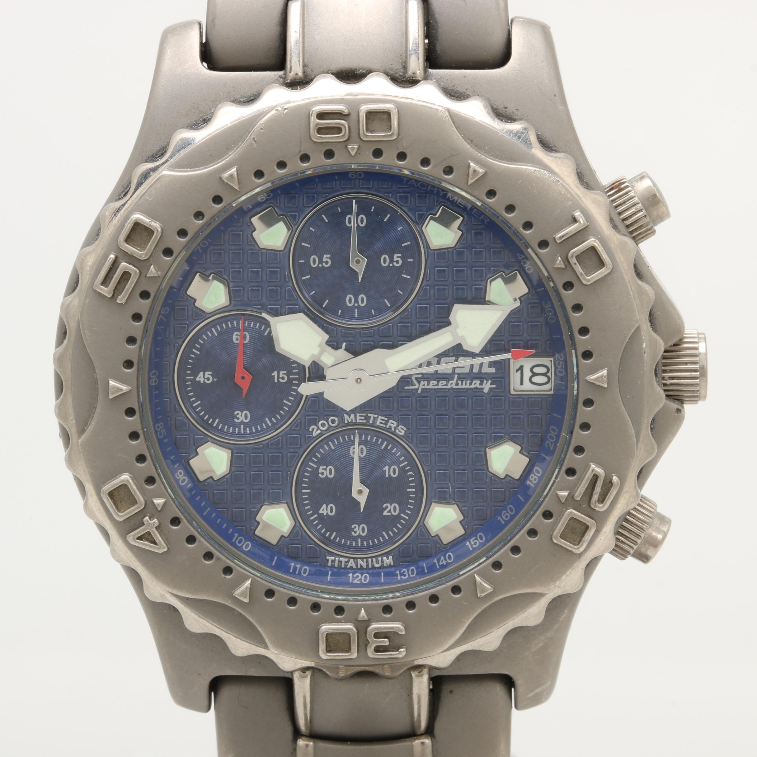 """Fossil """"Speedway"""" Titanium Wristwatch"""