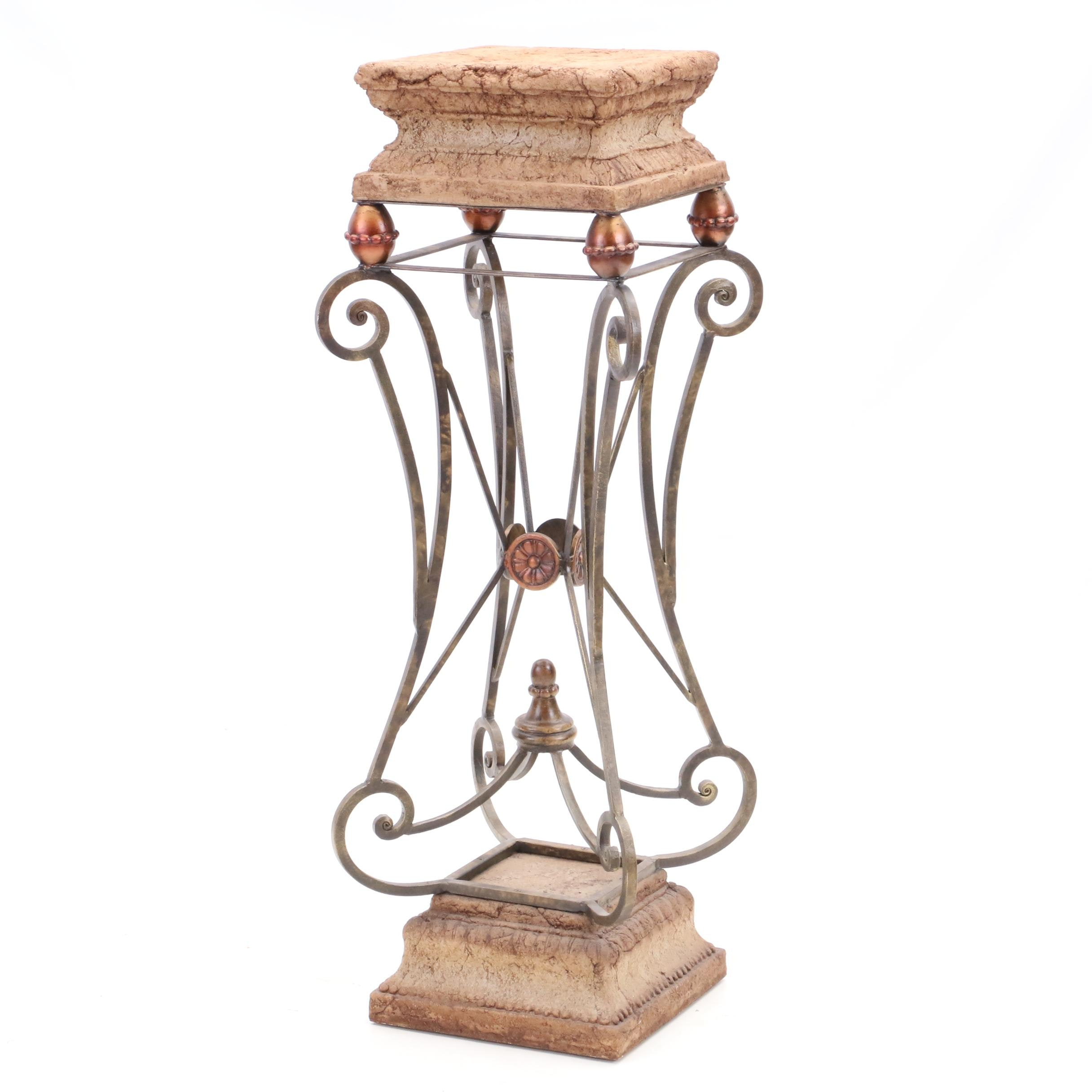 Neoclassical Style Plant Stand