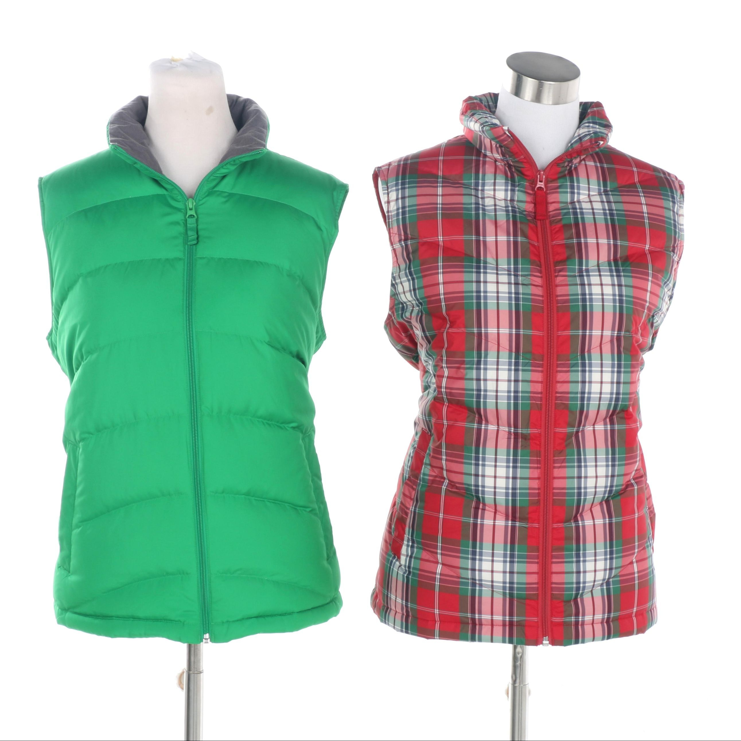 Women's Lands' End Puffer Vests