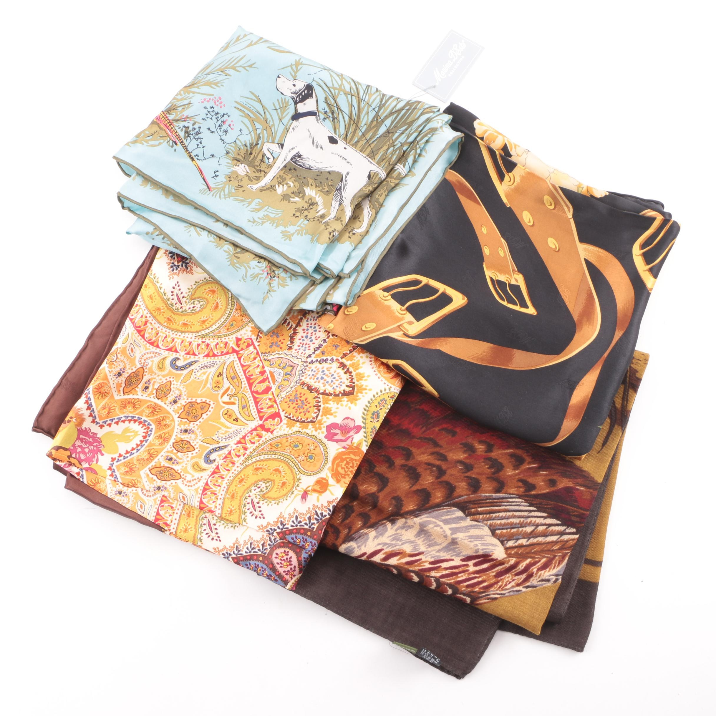 Maria D'Este, Orvis and Joules Silk Fashion Scarves