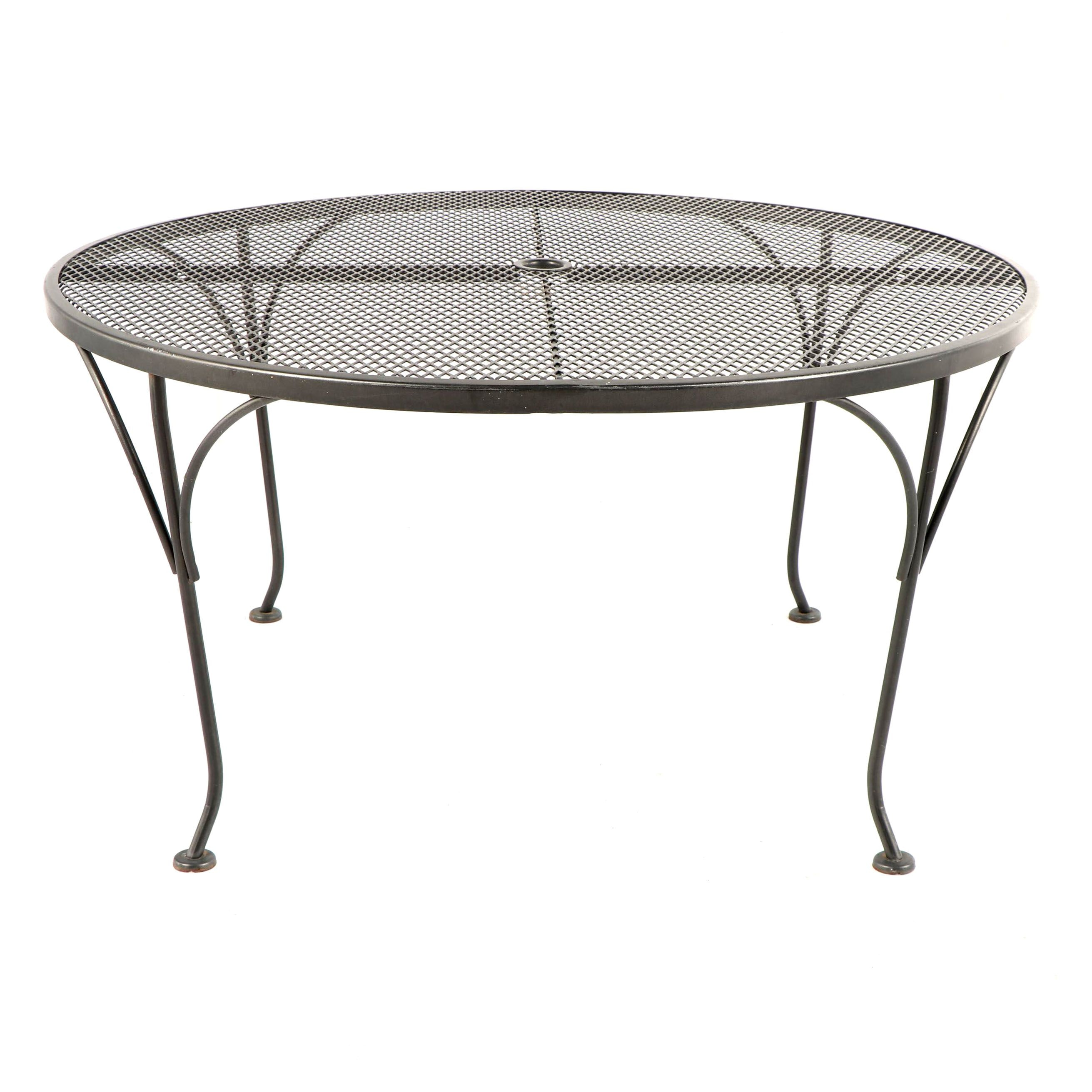 Metal with Mesh Top Patio Table
