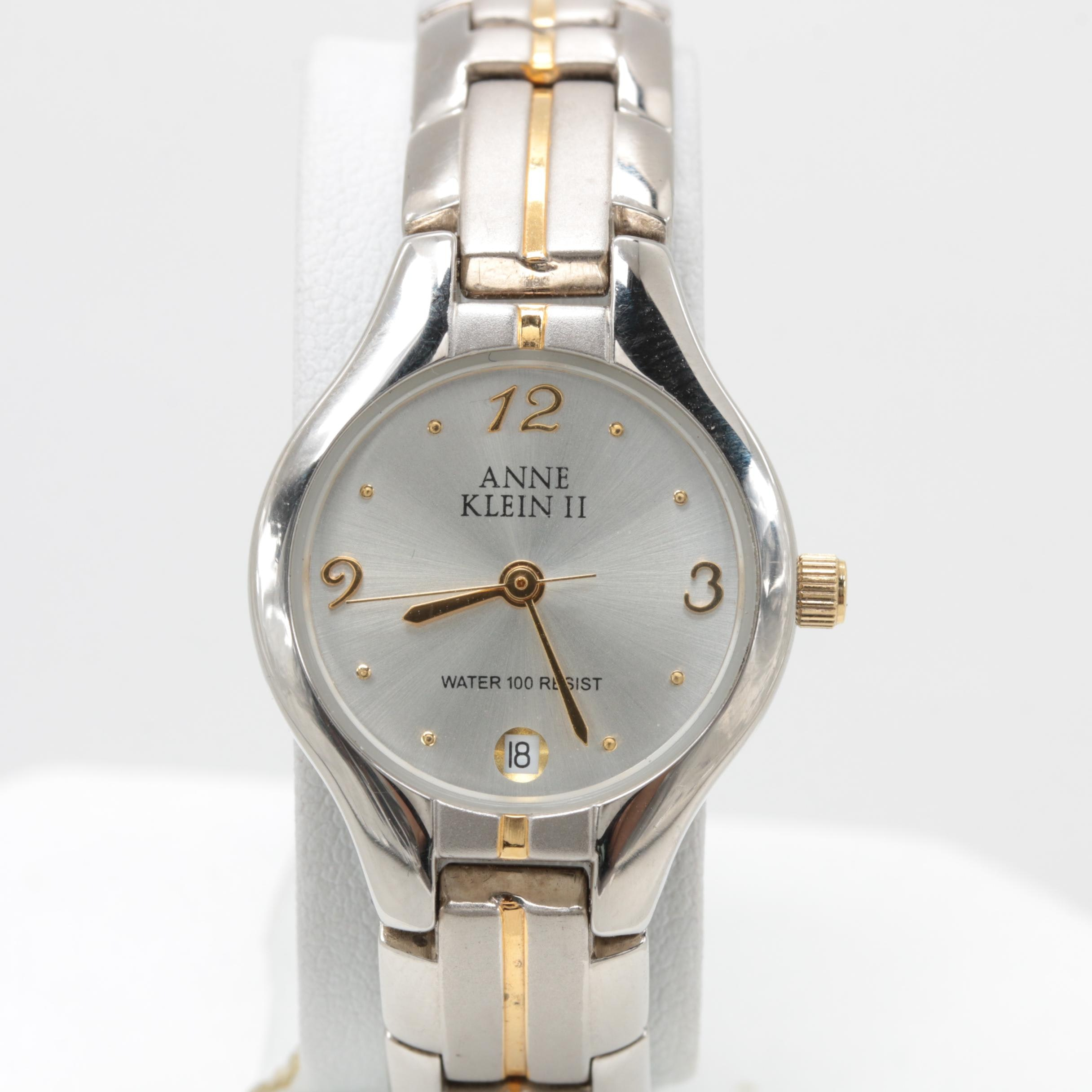 Anne Klein II Silver and Gold Tone Wristwatch