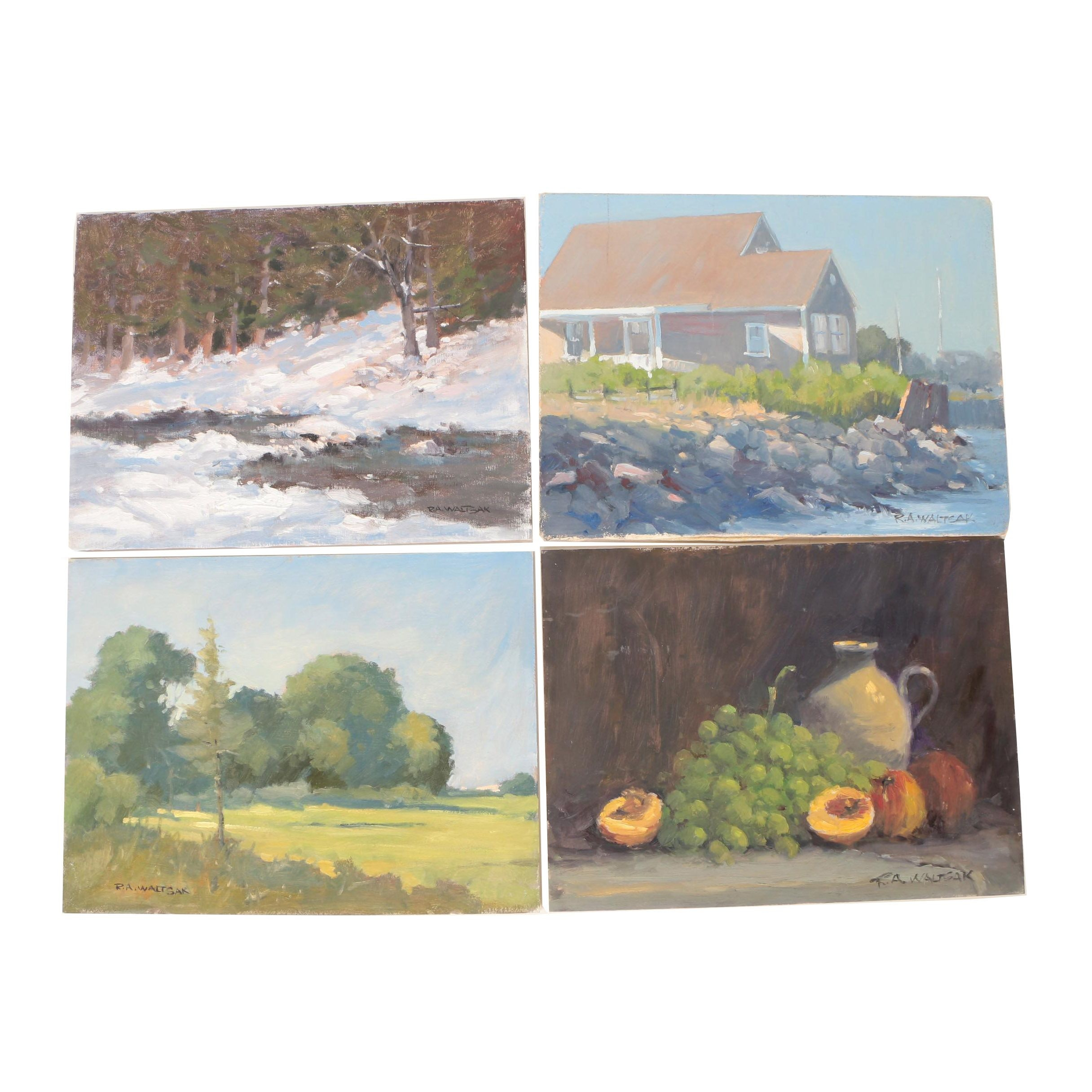 Robert A. Waltsak Still Life and Landscape Oil Paintings