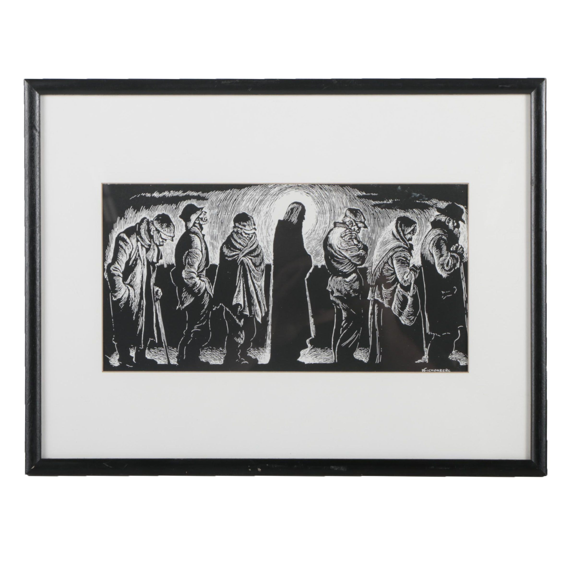 "Photolithograph after Fritz Eichenberg ""Christ in the Breadline"""