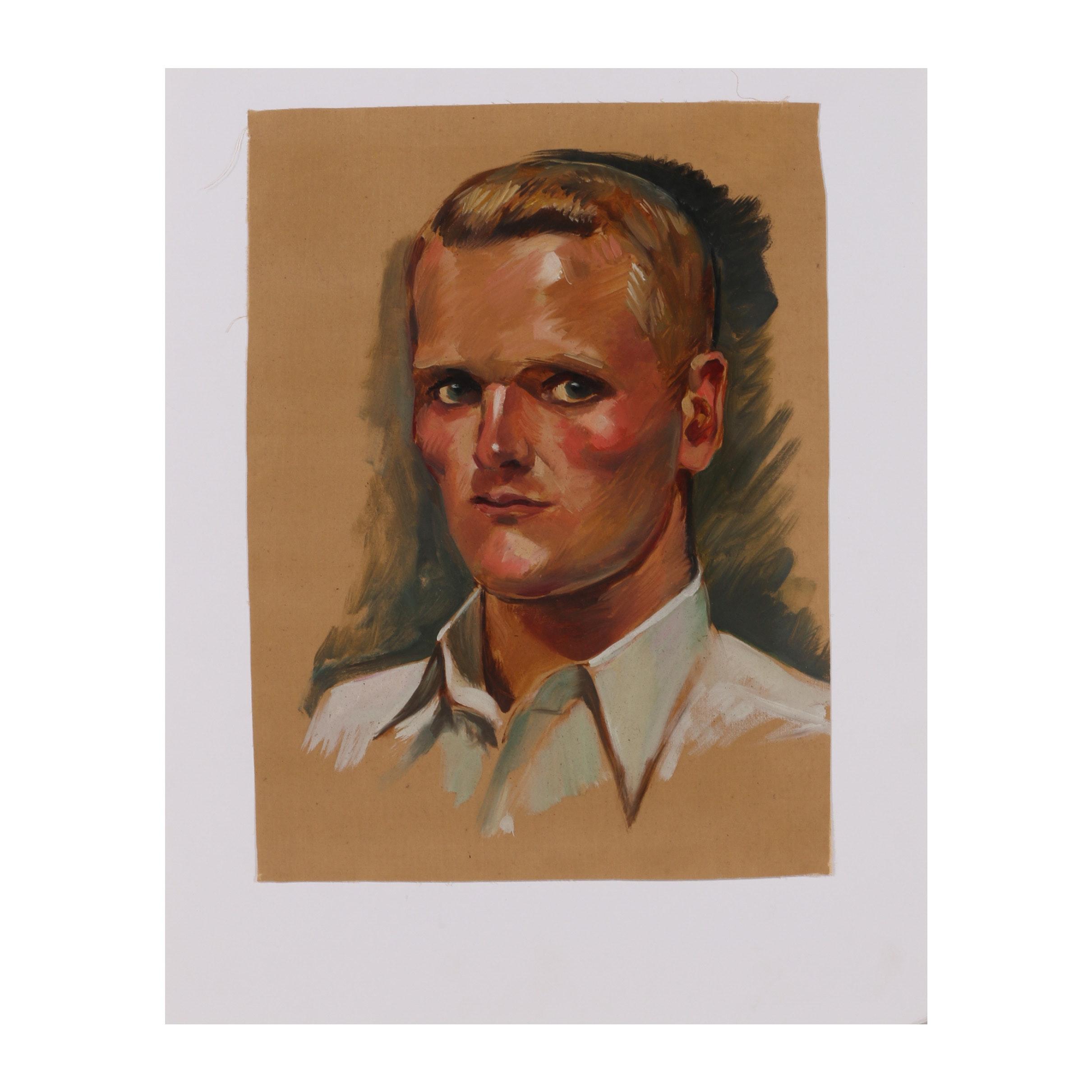 "Robert Whitmore Oil Painting ""Jack Logan"""