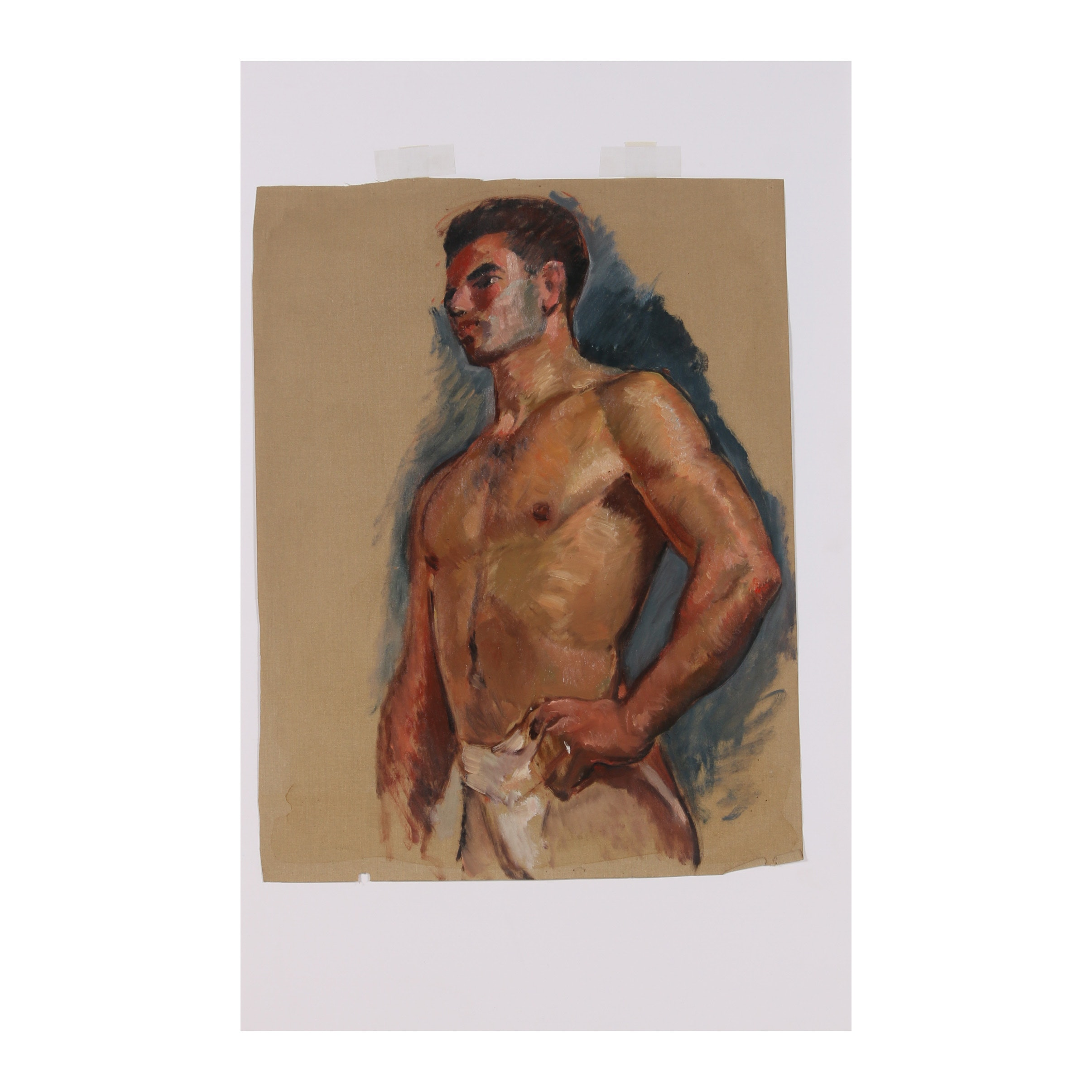 "Robert Whitmore Oil Painting ""Male Portrait"""
