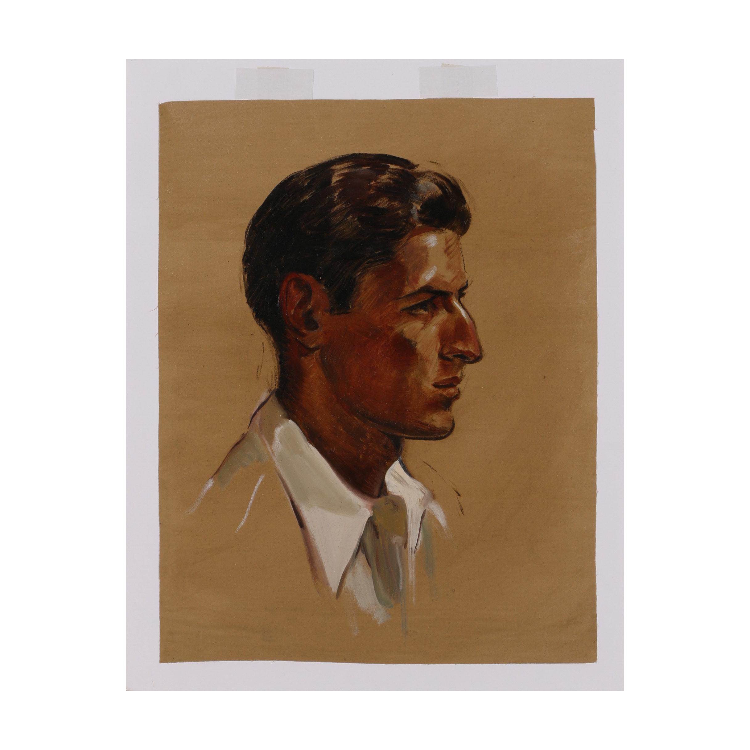"Robert Whitmore Oil Painting ""Male White Collar"""