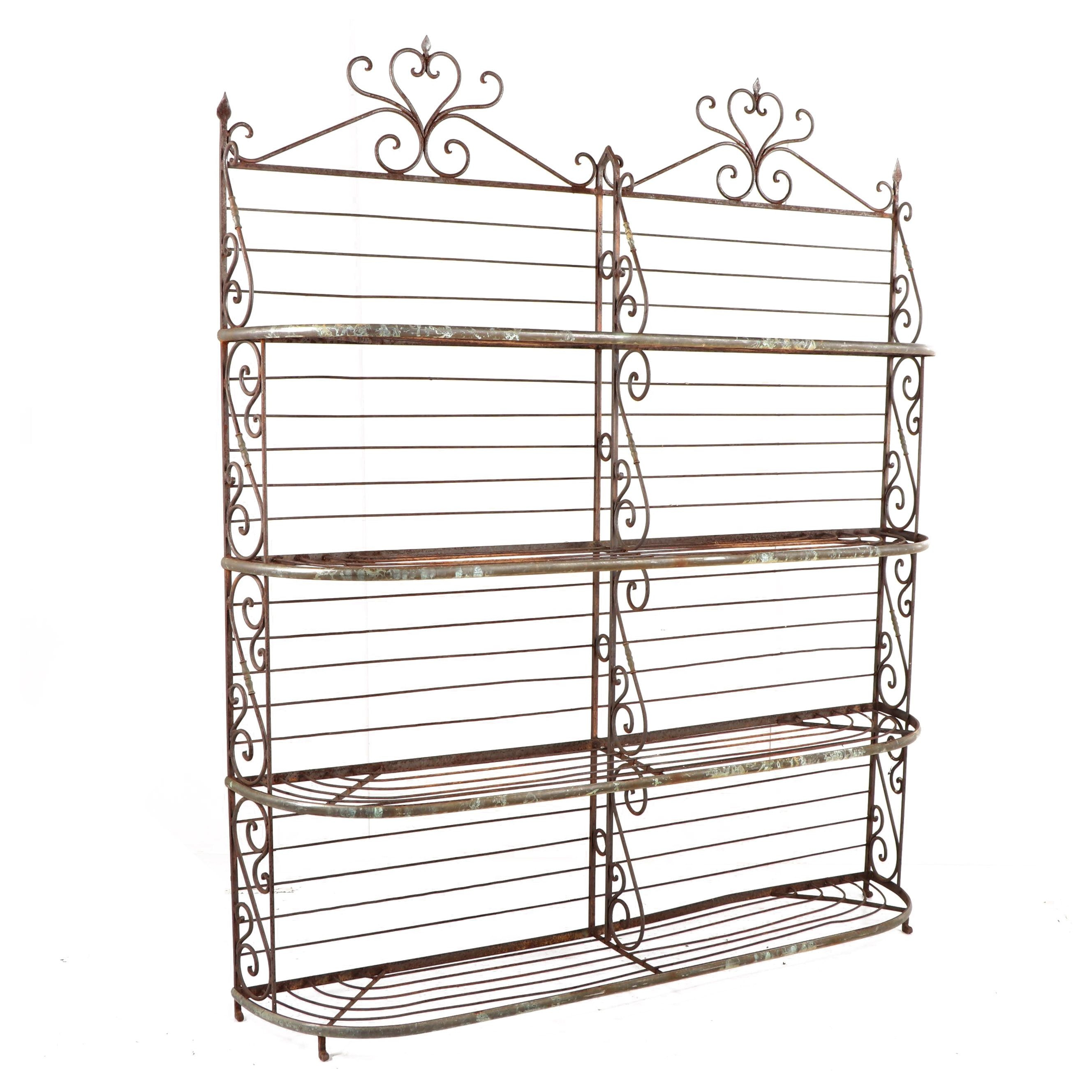 French Style Wrought Iron Baker's Rack