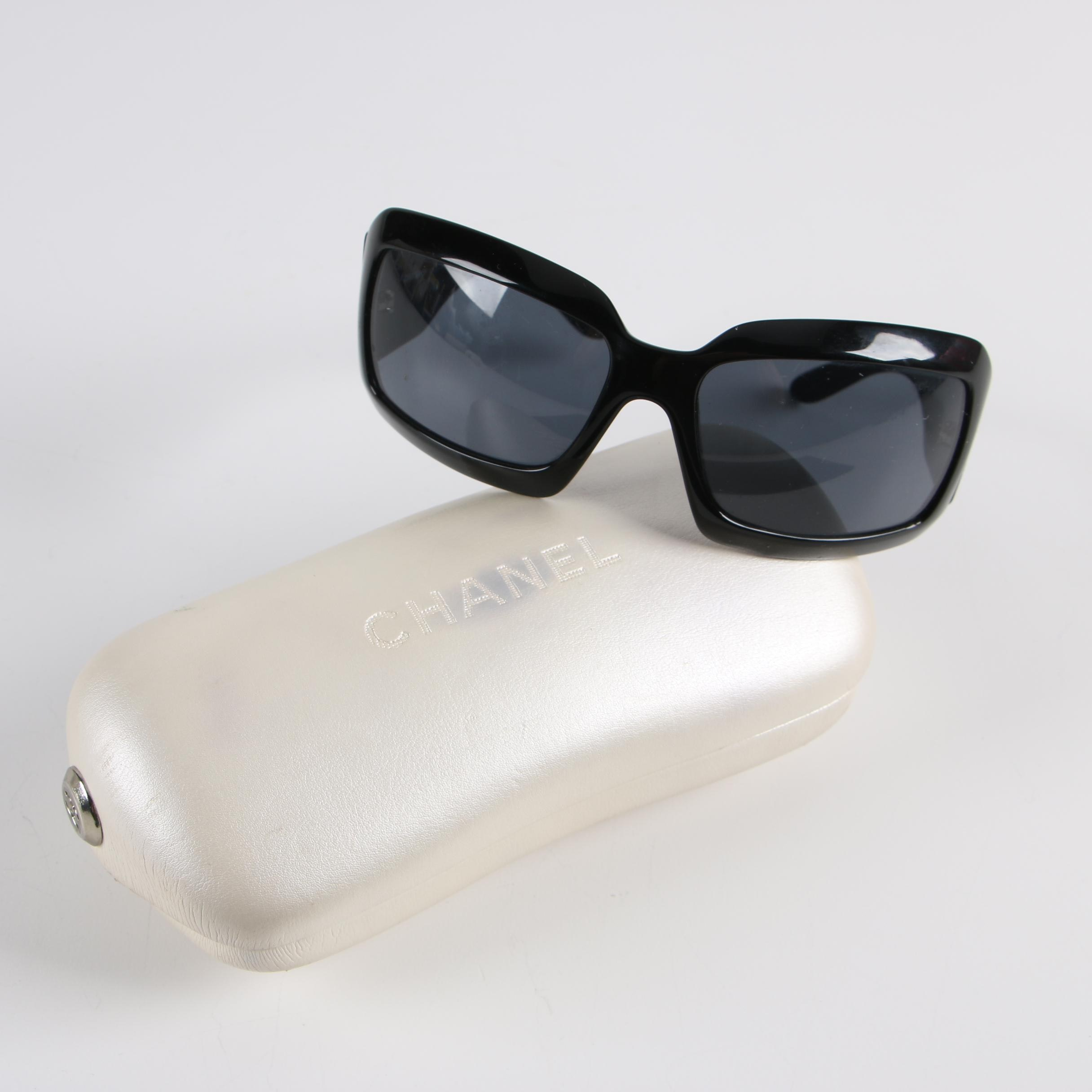 Chanel 5076-H Black Sunglasses with Case