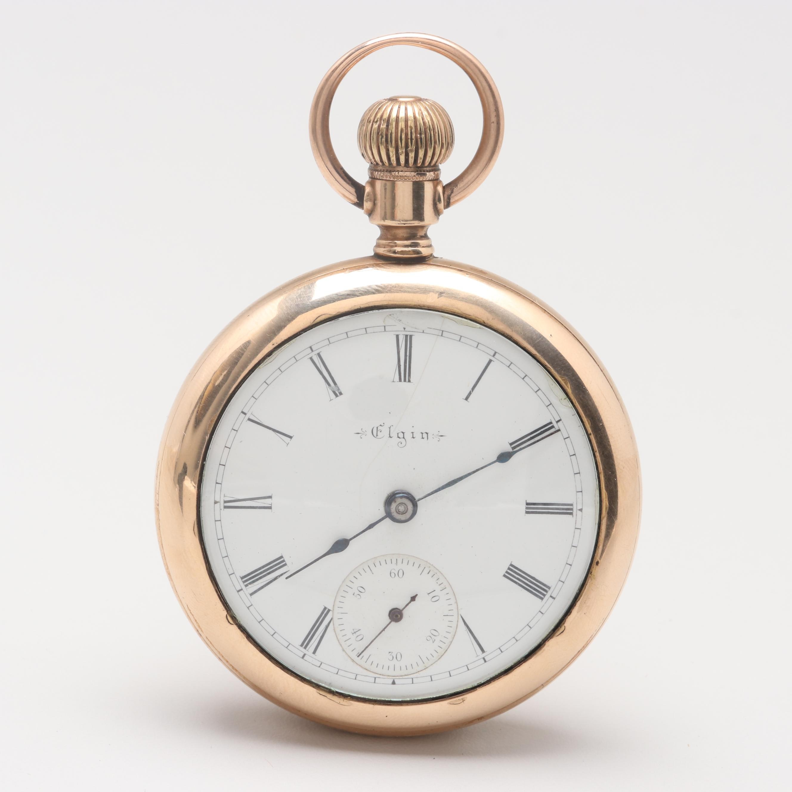 Circa 1897 Elgin Gold Filled Pocket Watch