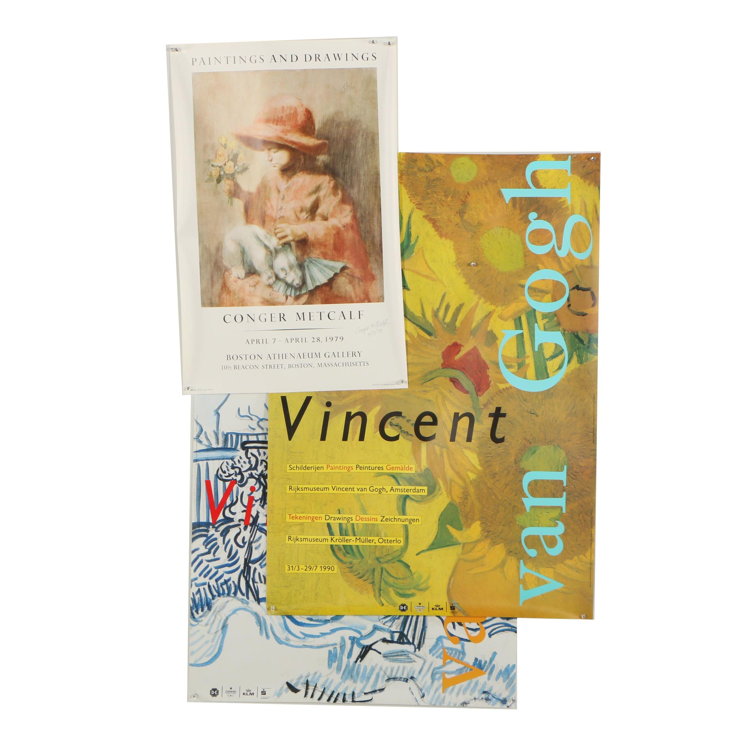 Exhibition Posters for Vincent Van Gogh and Conger Metcalf