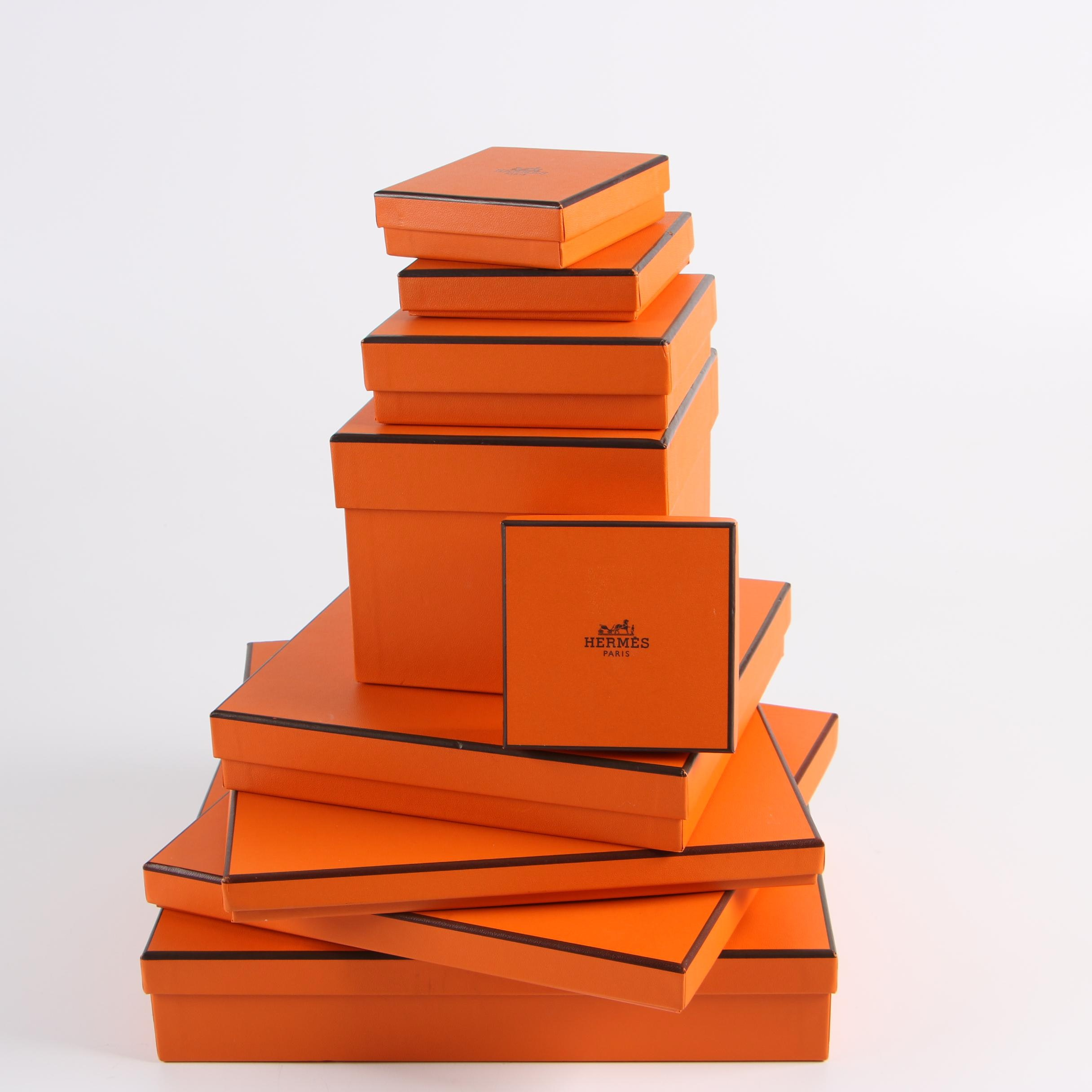 Hermès Gift Boxes Including Ribbons