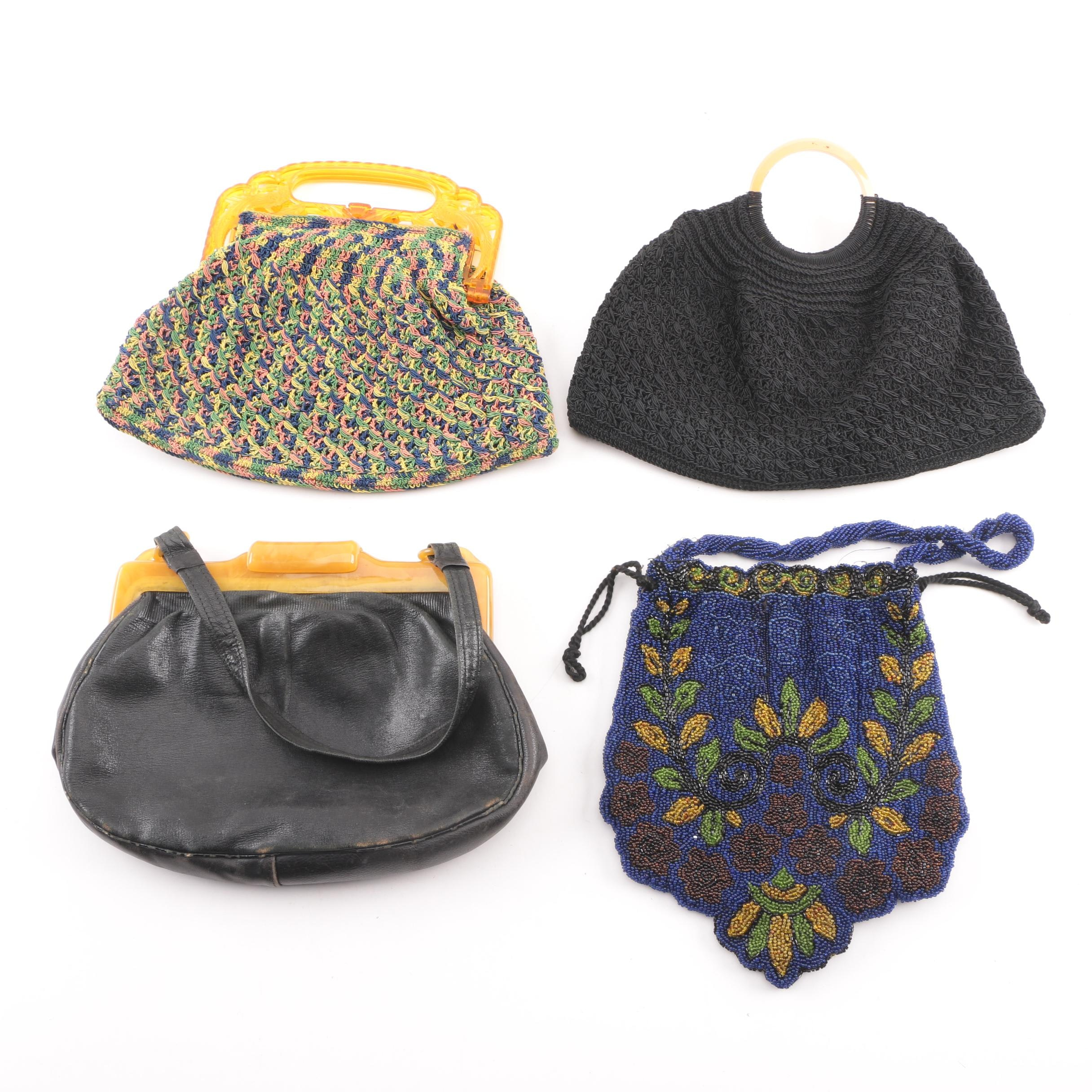 Vintage Handbags Including Beaded and Crochet