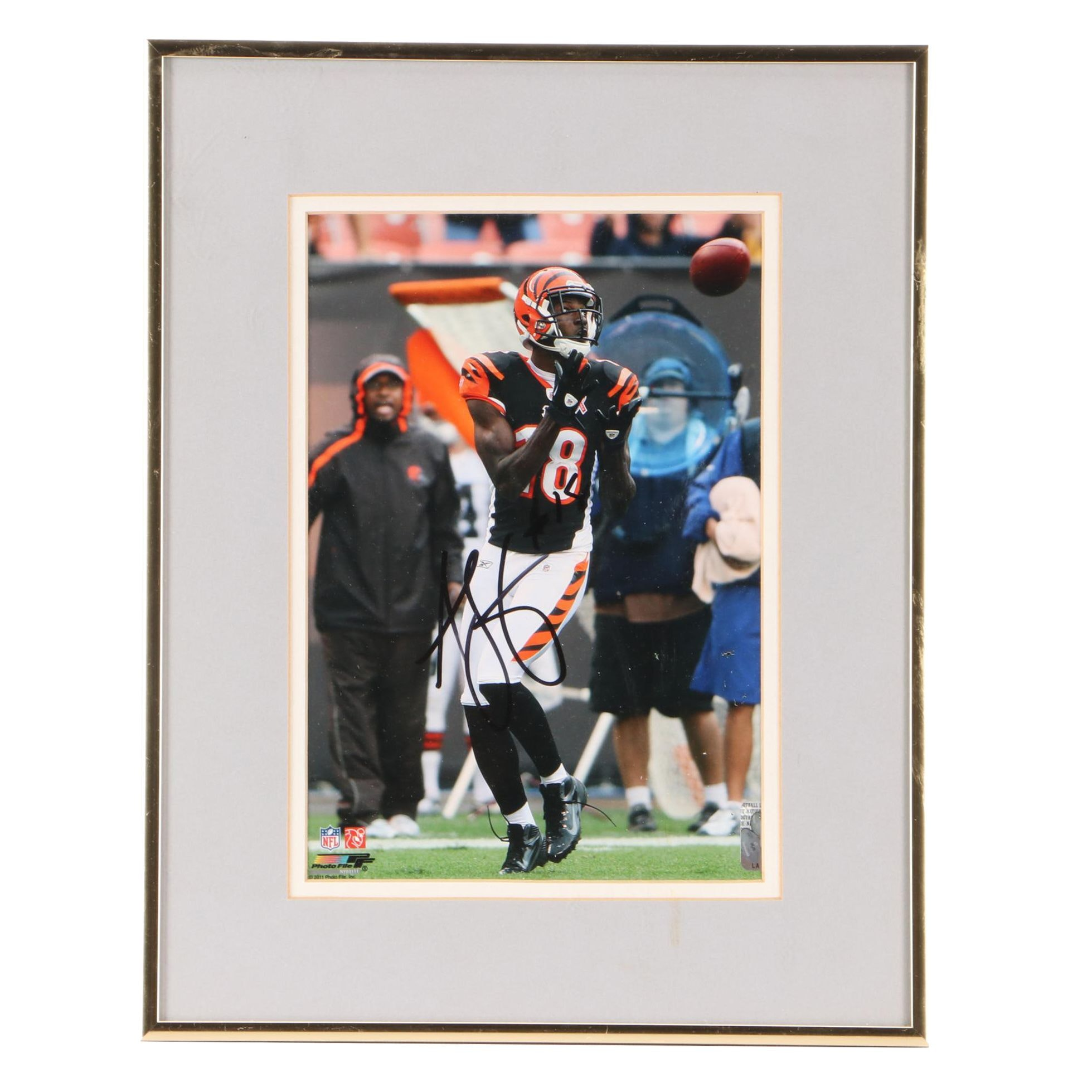 A.J.  Green Signed Cincinnati Bengals Matted and Framed Photo Print