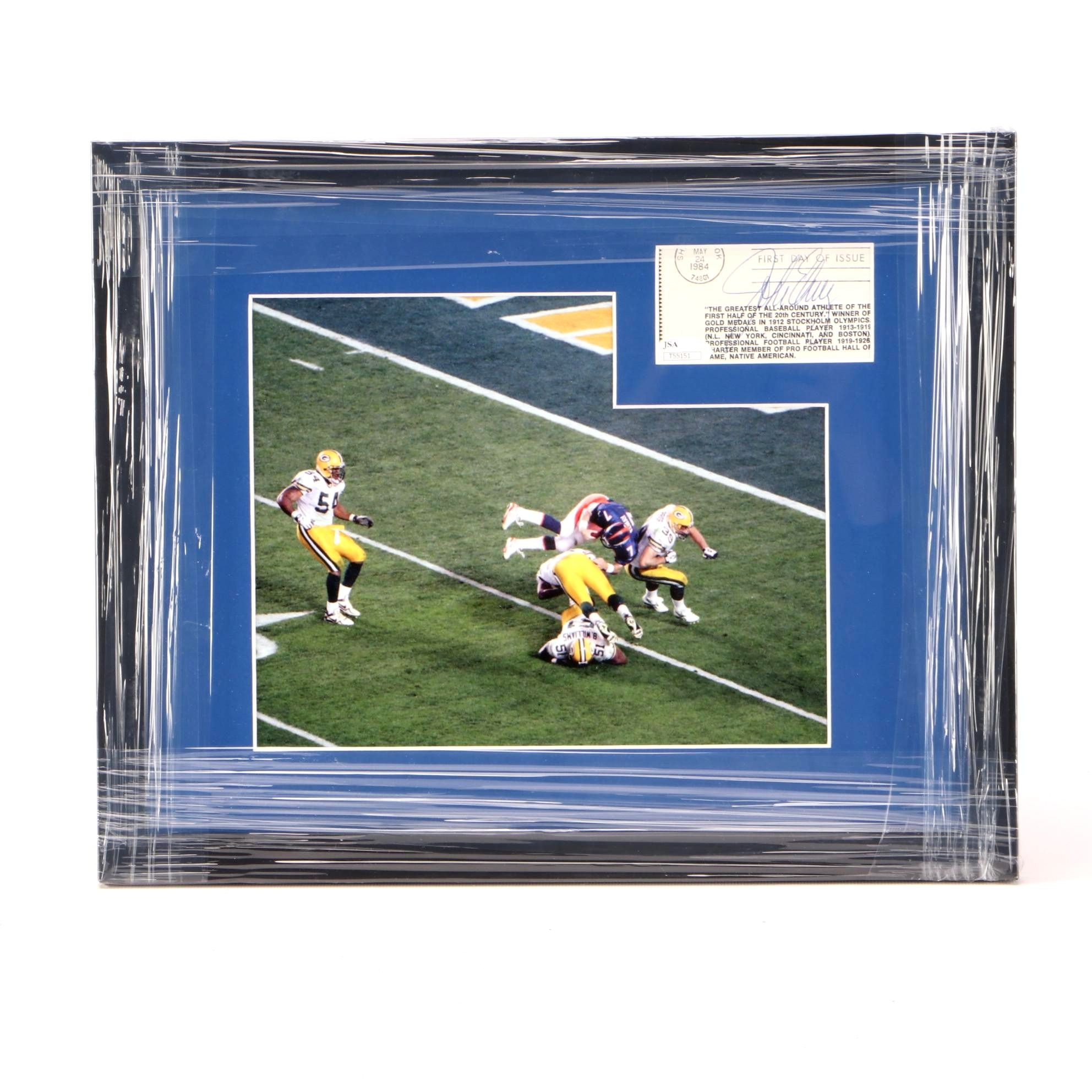 John Elway Cut Signature Display  COA