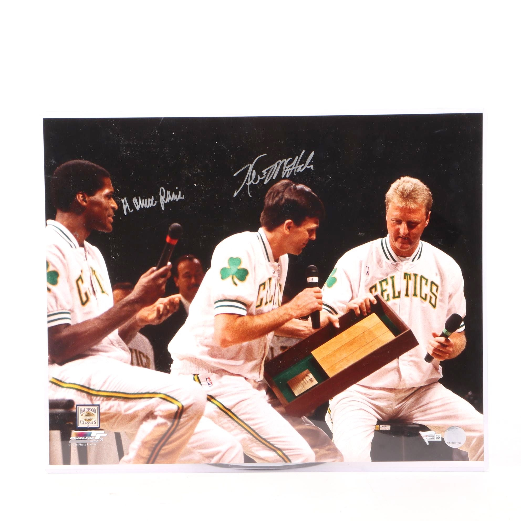 Kevin McHale and Robert Parrish Signed Boston Celtics Basketball Photo Print COA