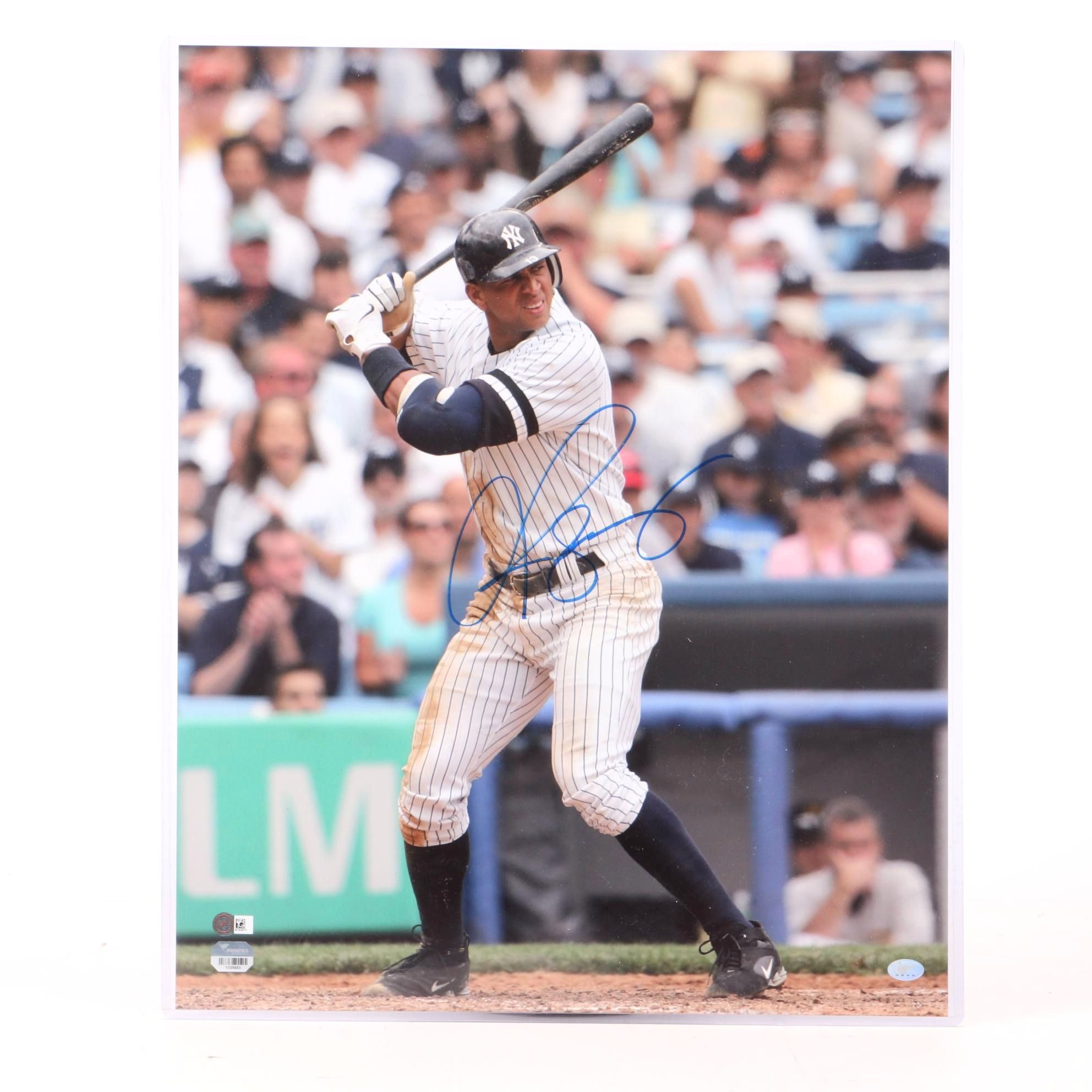 Alex Rodriquez Signed New York Yankees Larger Size Photo Print COA