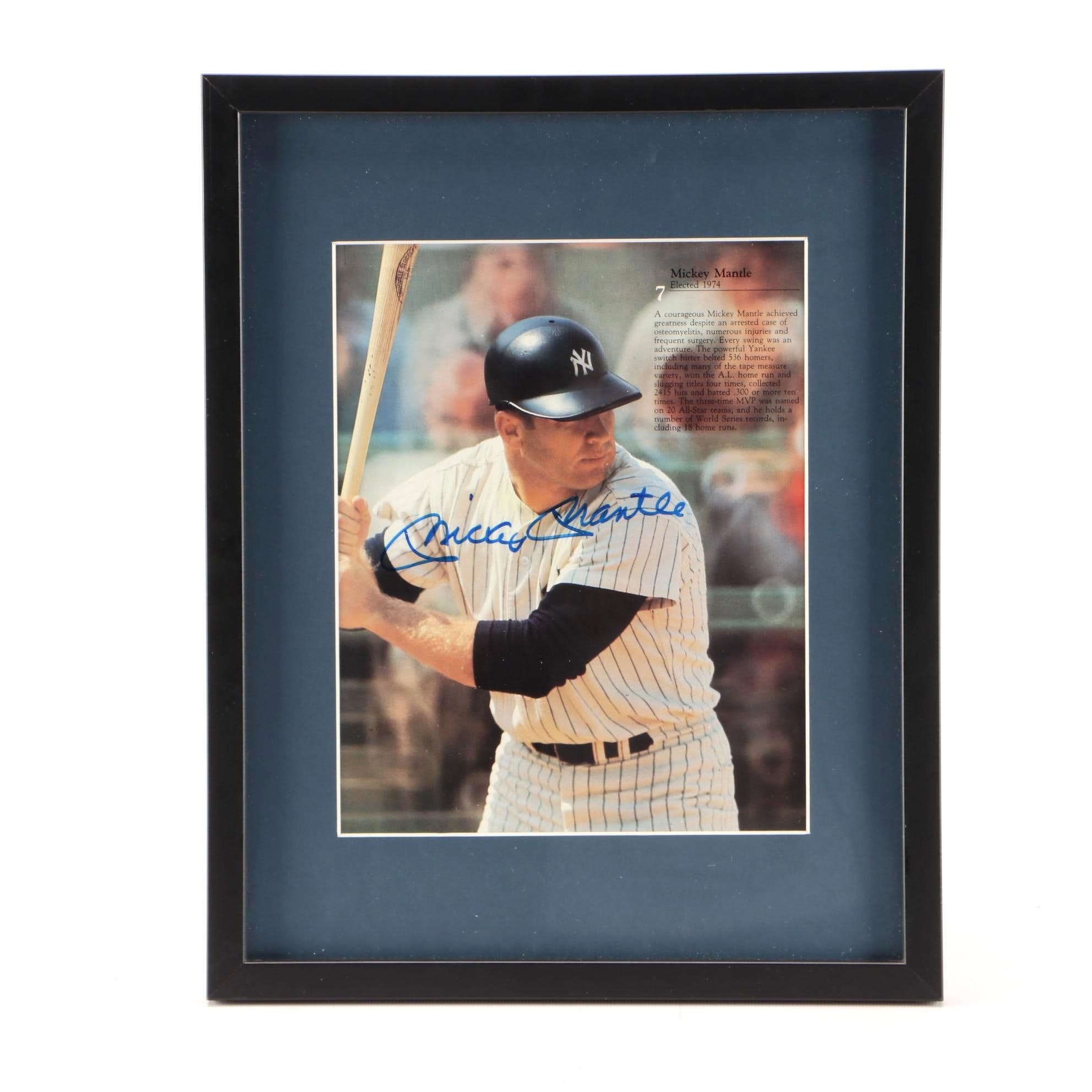 Mantle and Mays Two-Sided Signed Display  COA