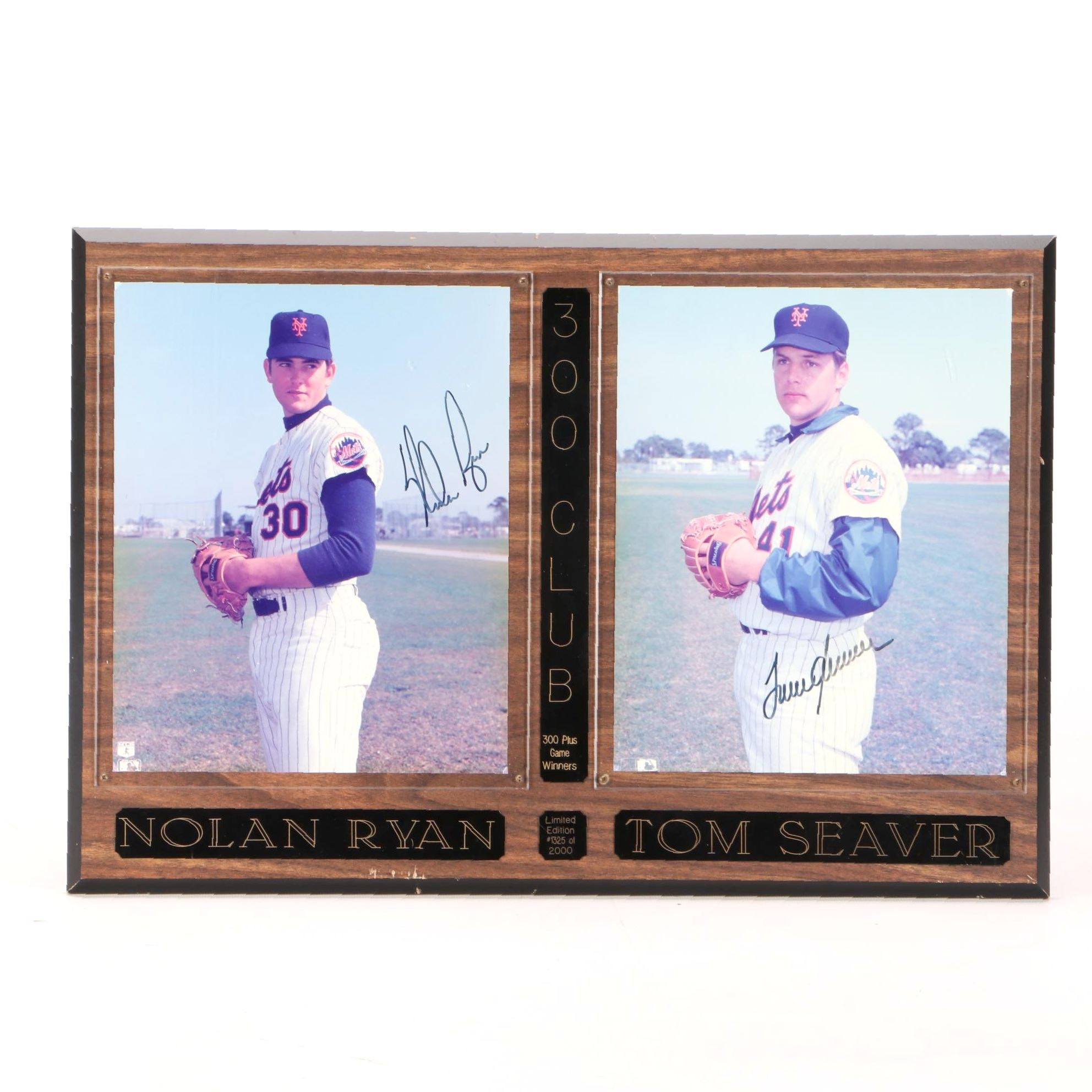 Nolan Ryan and Tom Seaver Mets Signed Display  COA
