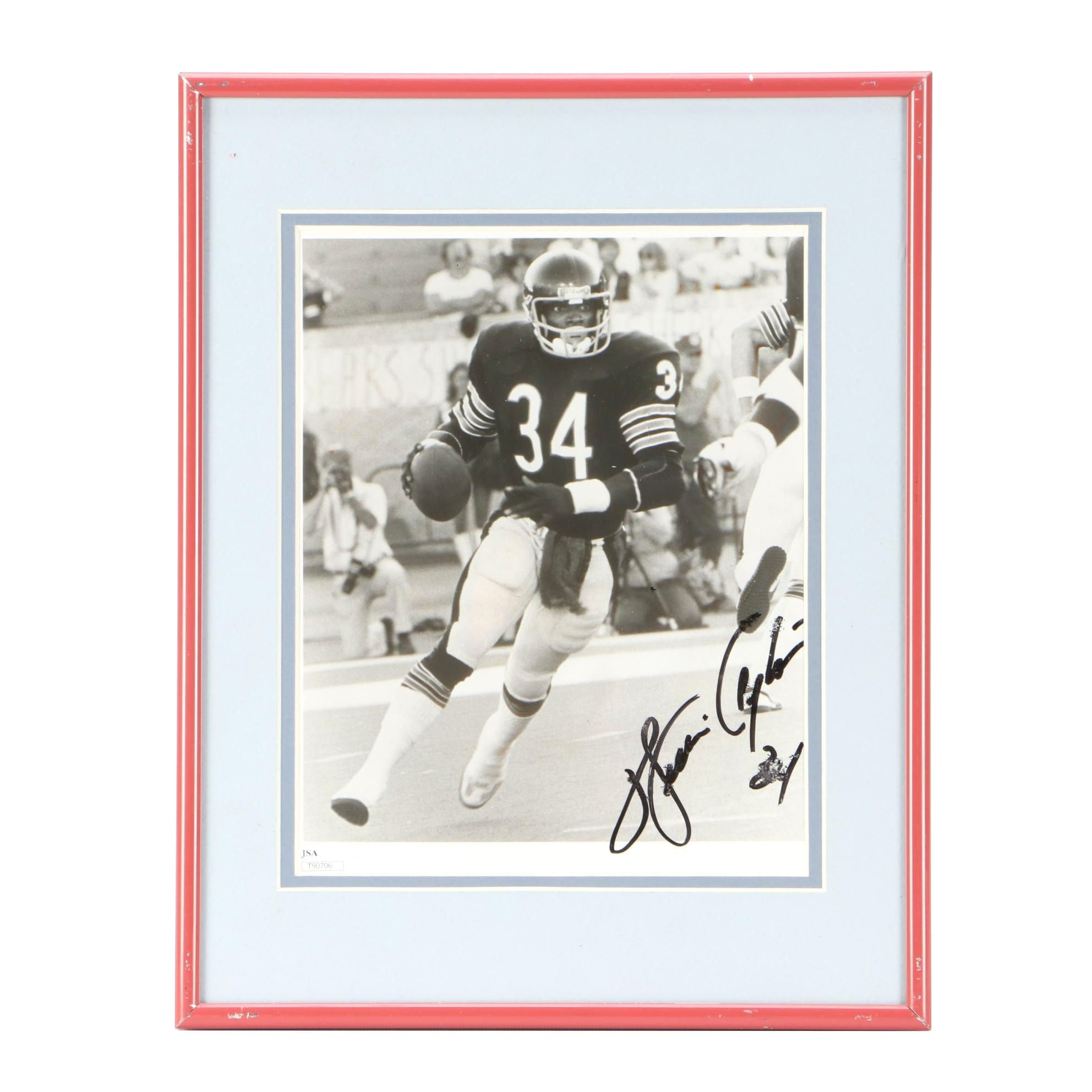 Walter Payton Signed Photo  COA
