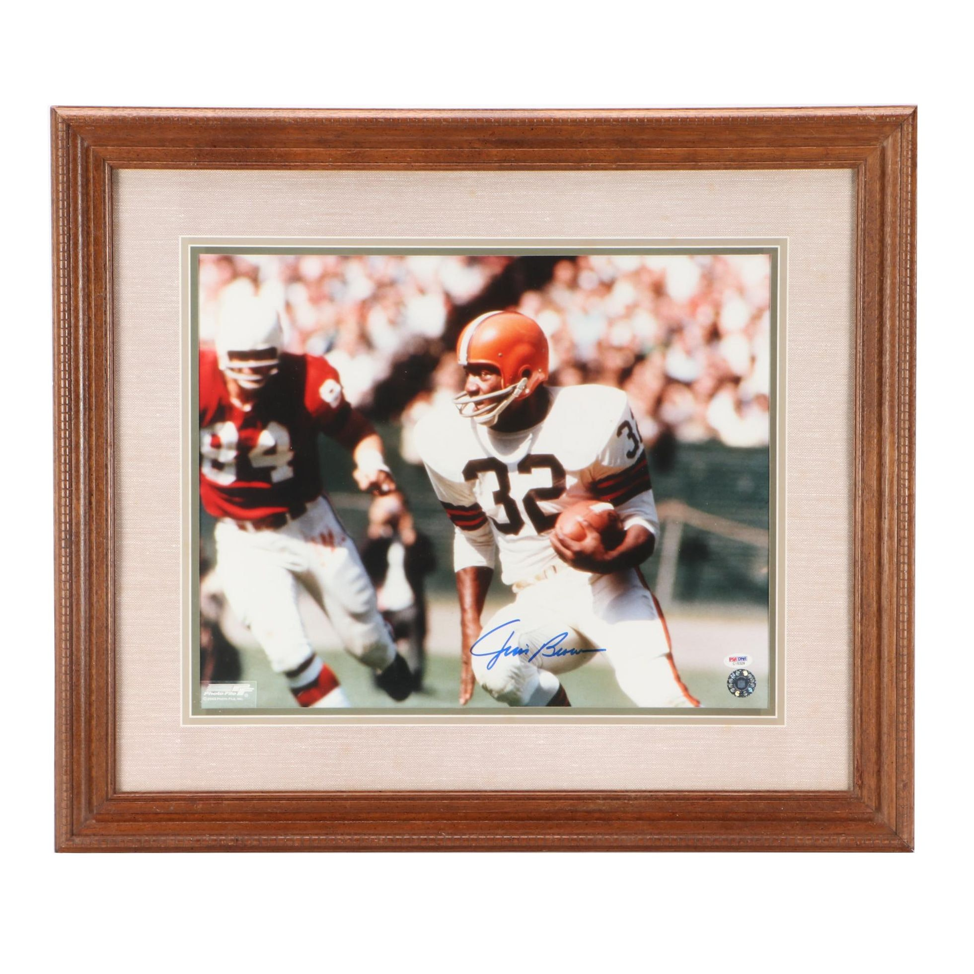 Jim Brown Signed Photo  COA