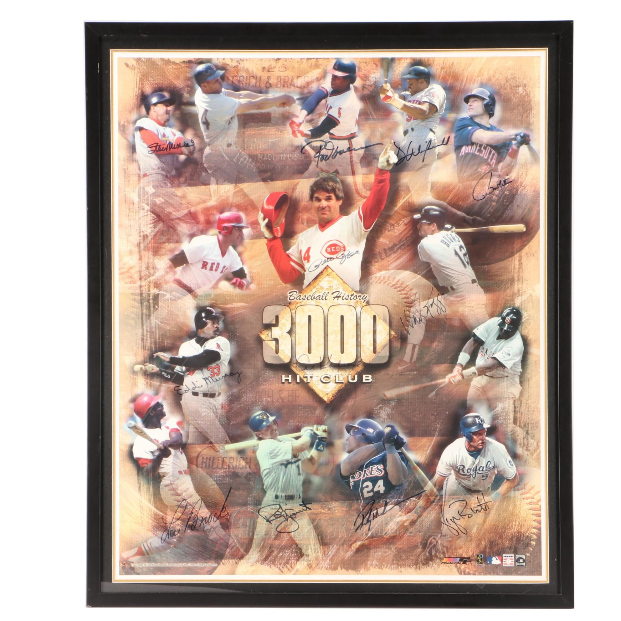 3000 Hit Multi-Signed Poster