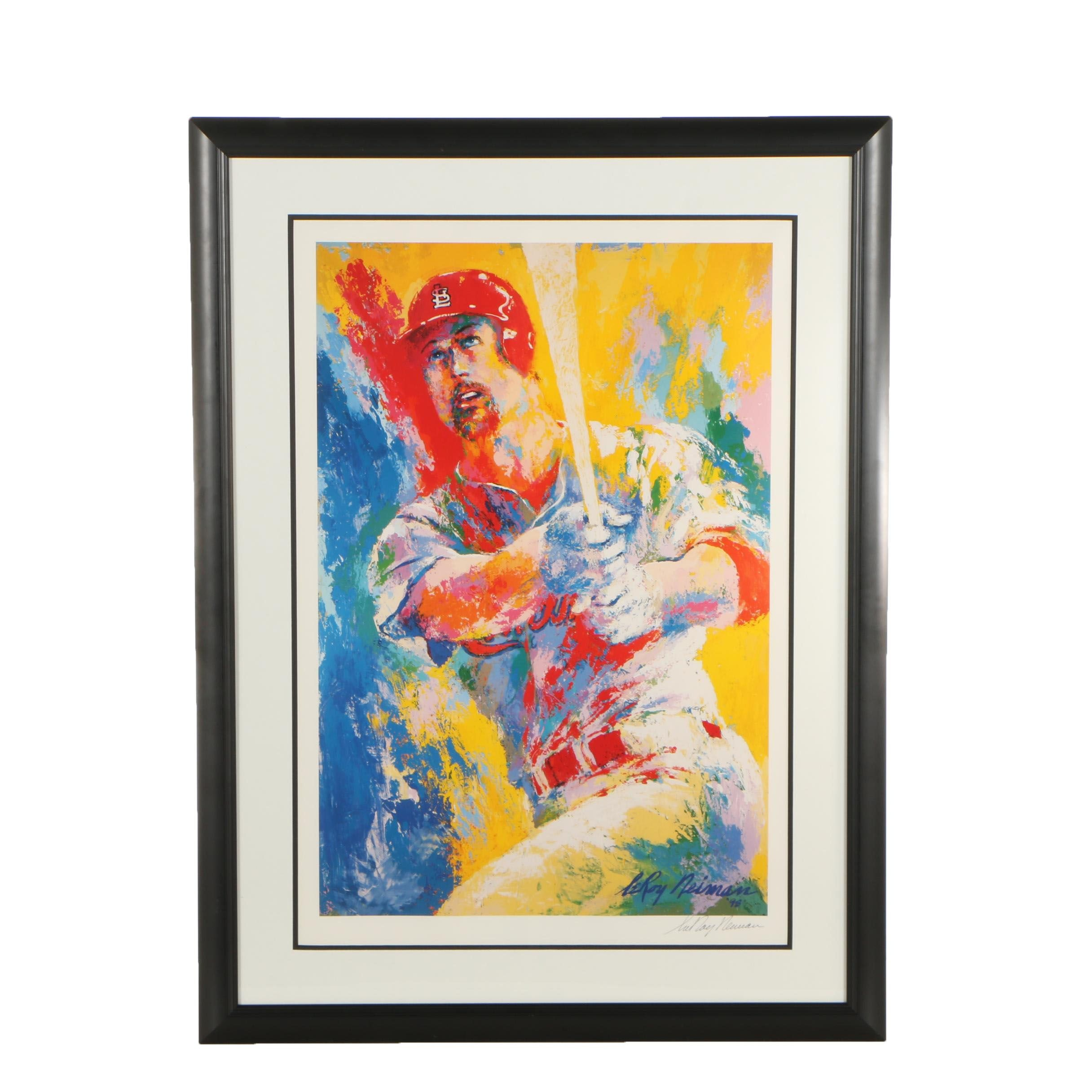 """LeRoy Neiman Offset Lithograph """"Marc McGwire"""""""