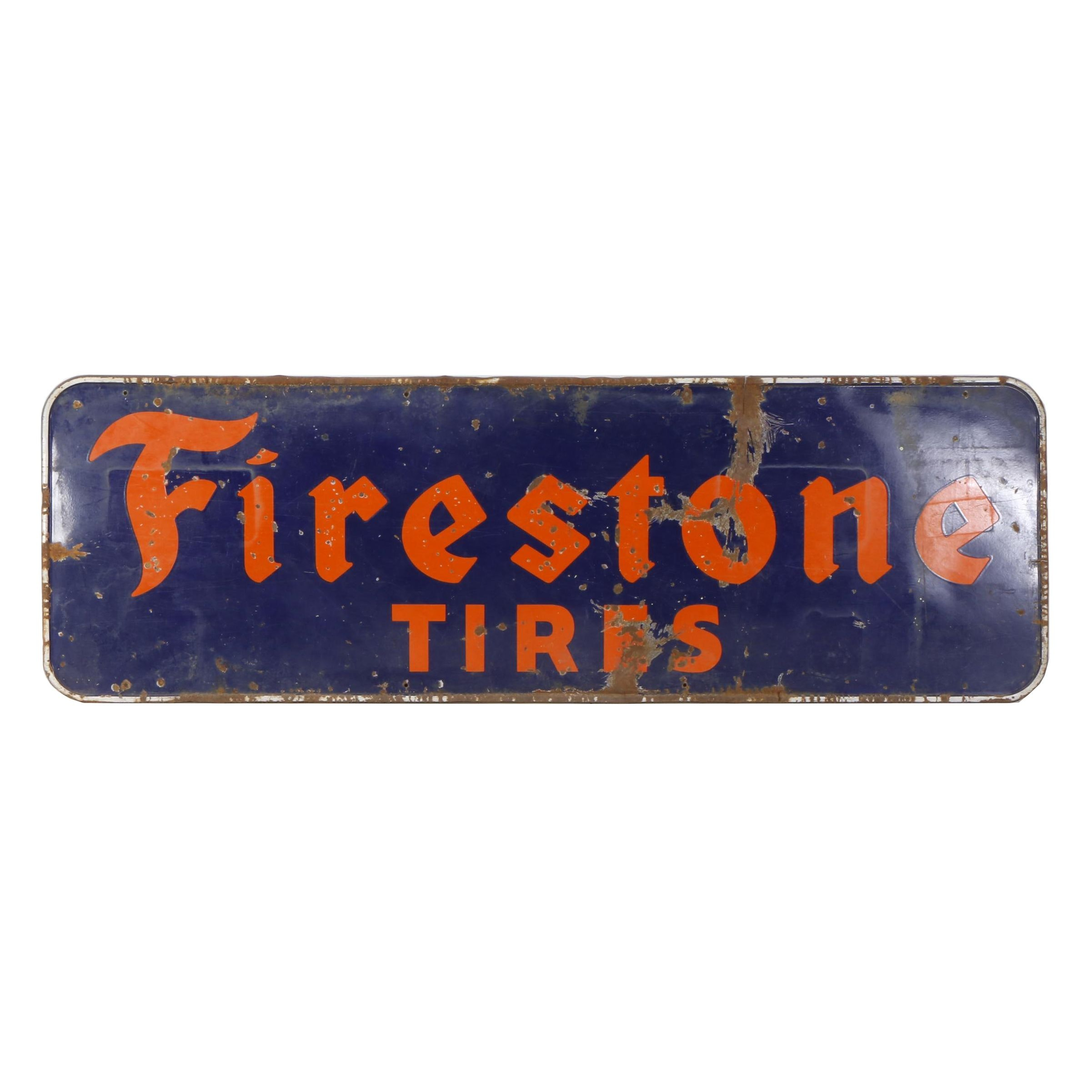 1940s-1950s Firestone Metal Advertising Sign