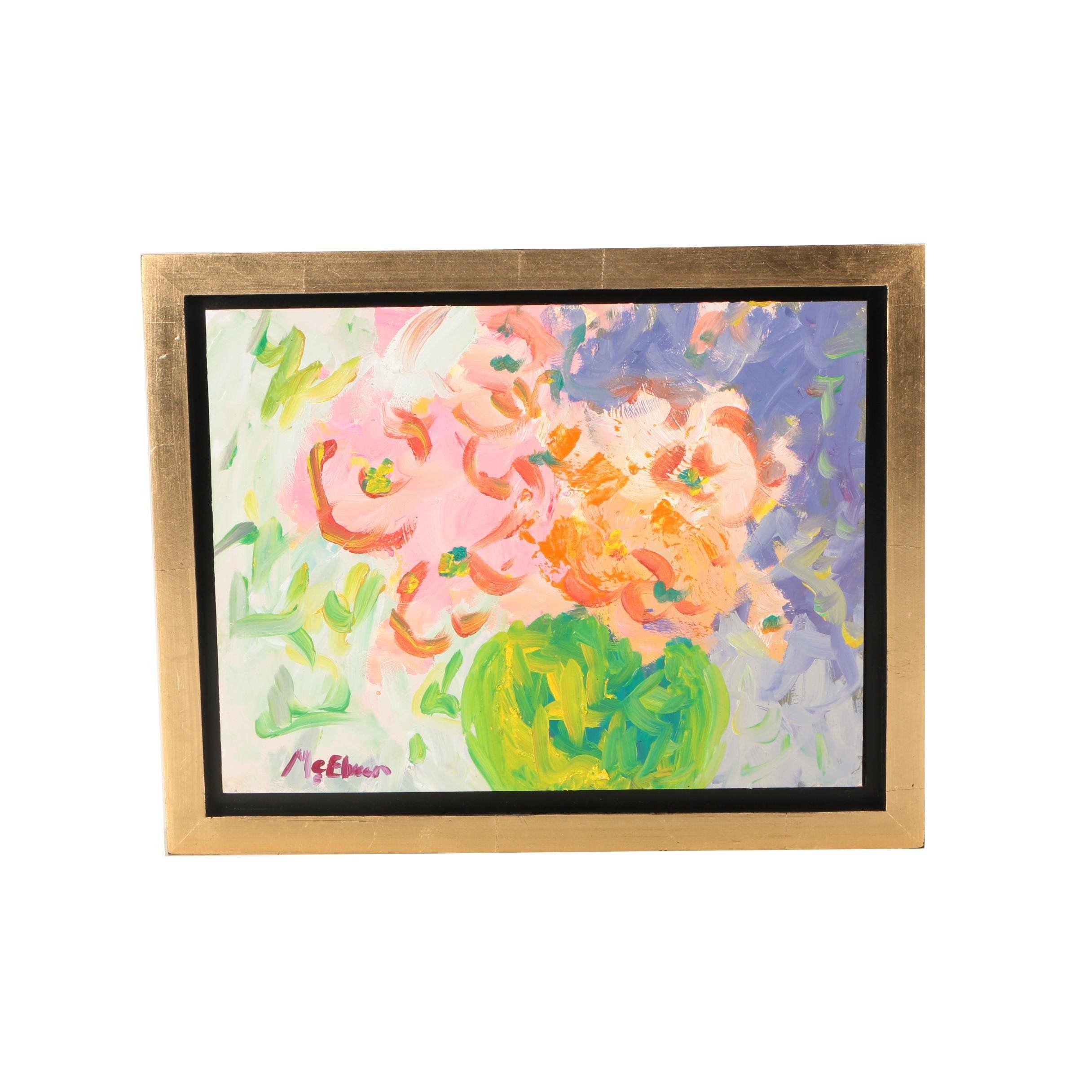 """Claire McElveen Oil Painting """"Joyous"""""""