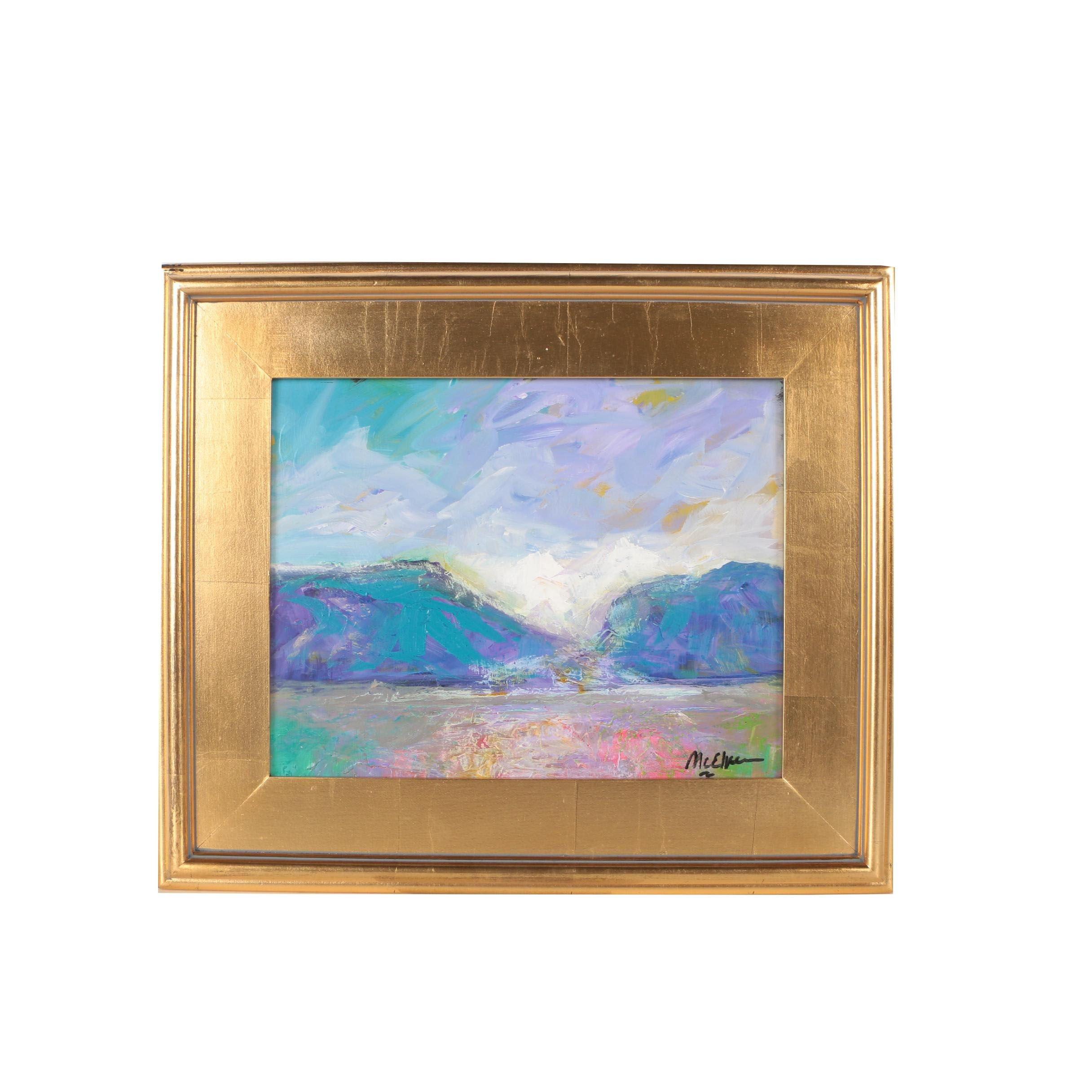 """Claire McElveen Oil Painting """"High Desert Pass"""""""