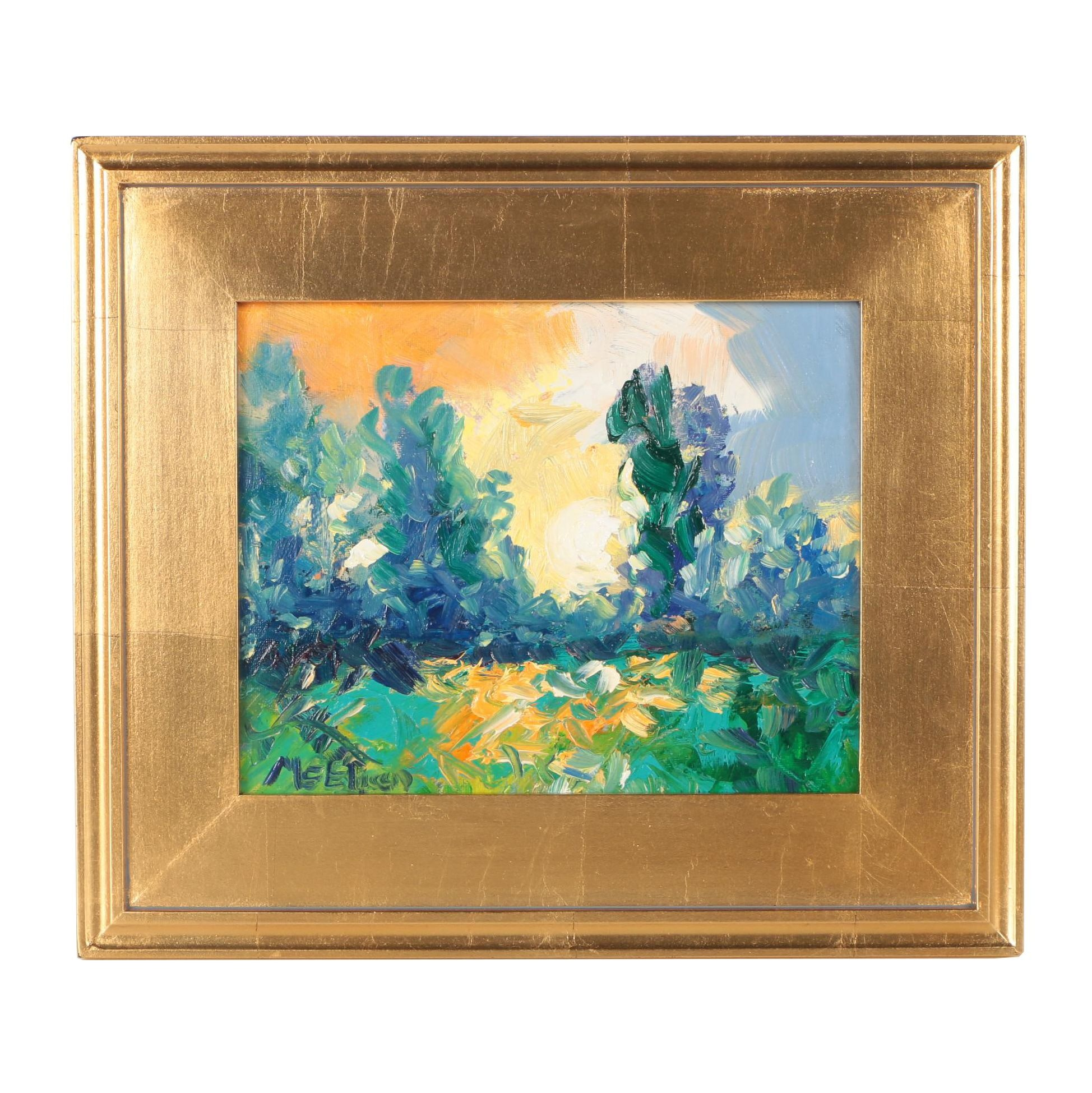 "Claire McElveen Oil Painting ""Dusk Glow"""