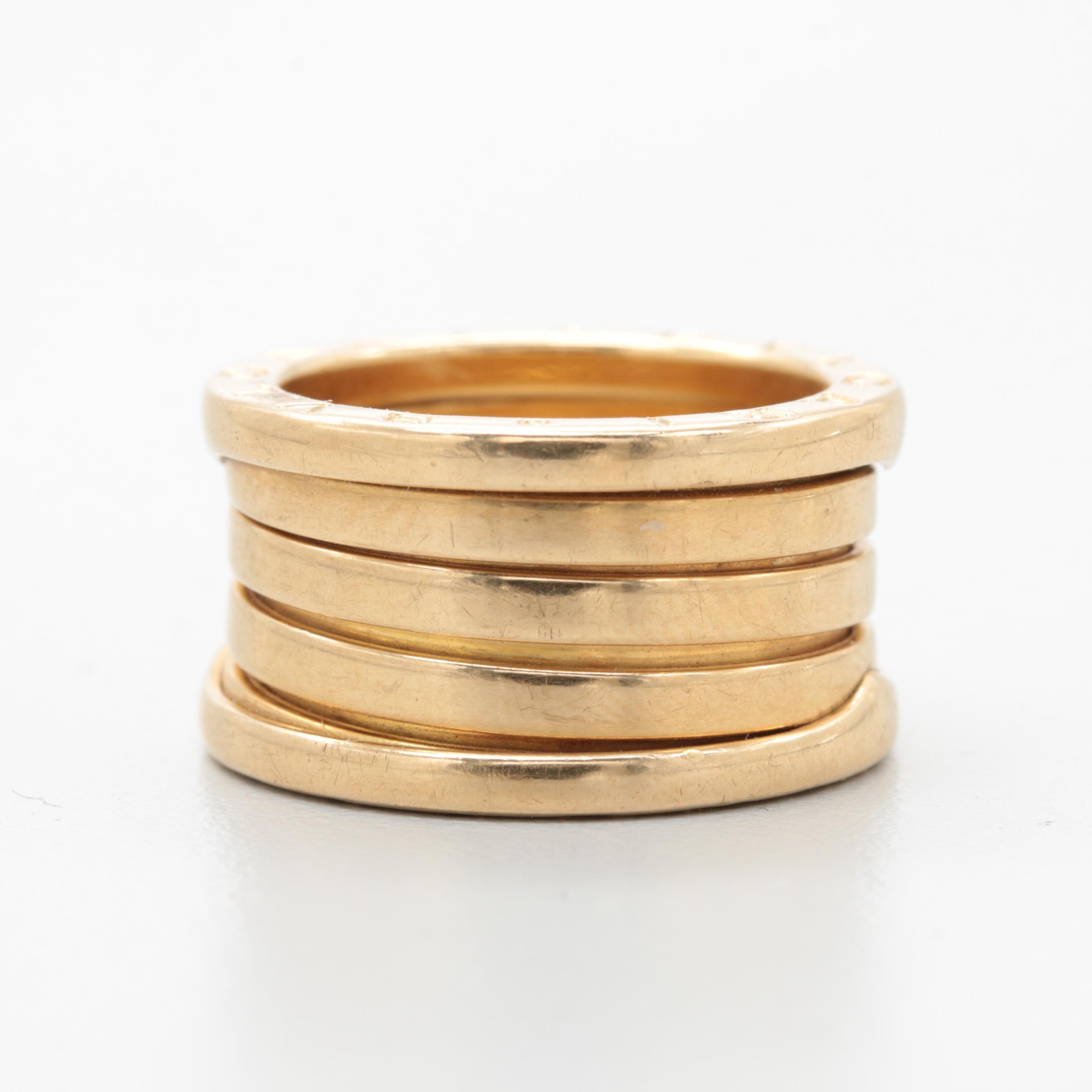 """Bulgari """"B.zero1"""" 18K Yellow Gold Ring"""