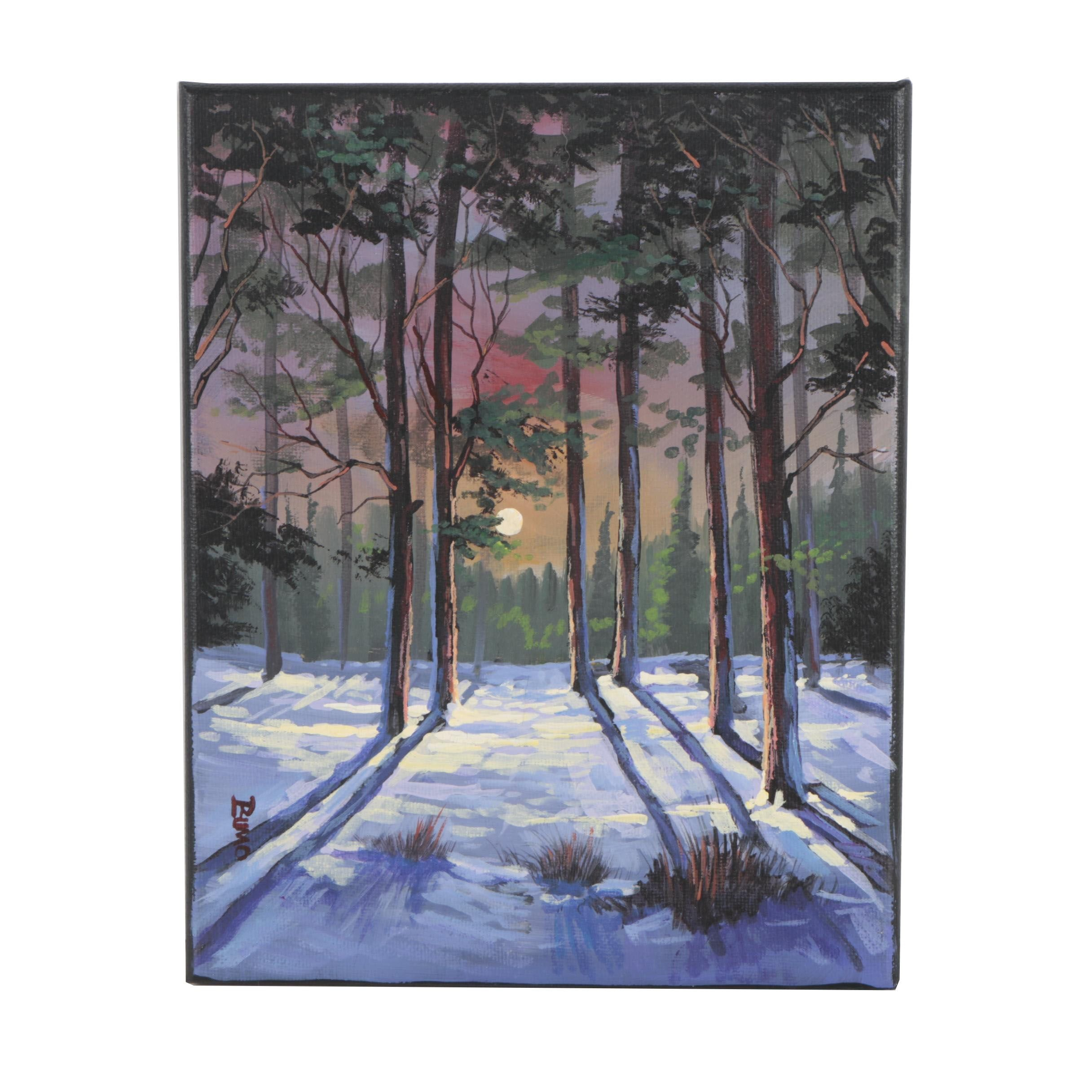 Douglas Johnpeer Oil Painting