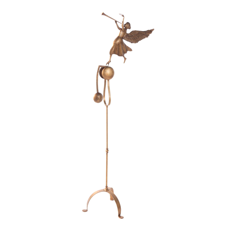 Metal Angel Counterbalanced Garden Sculpture