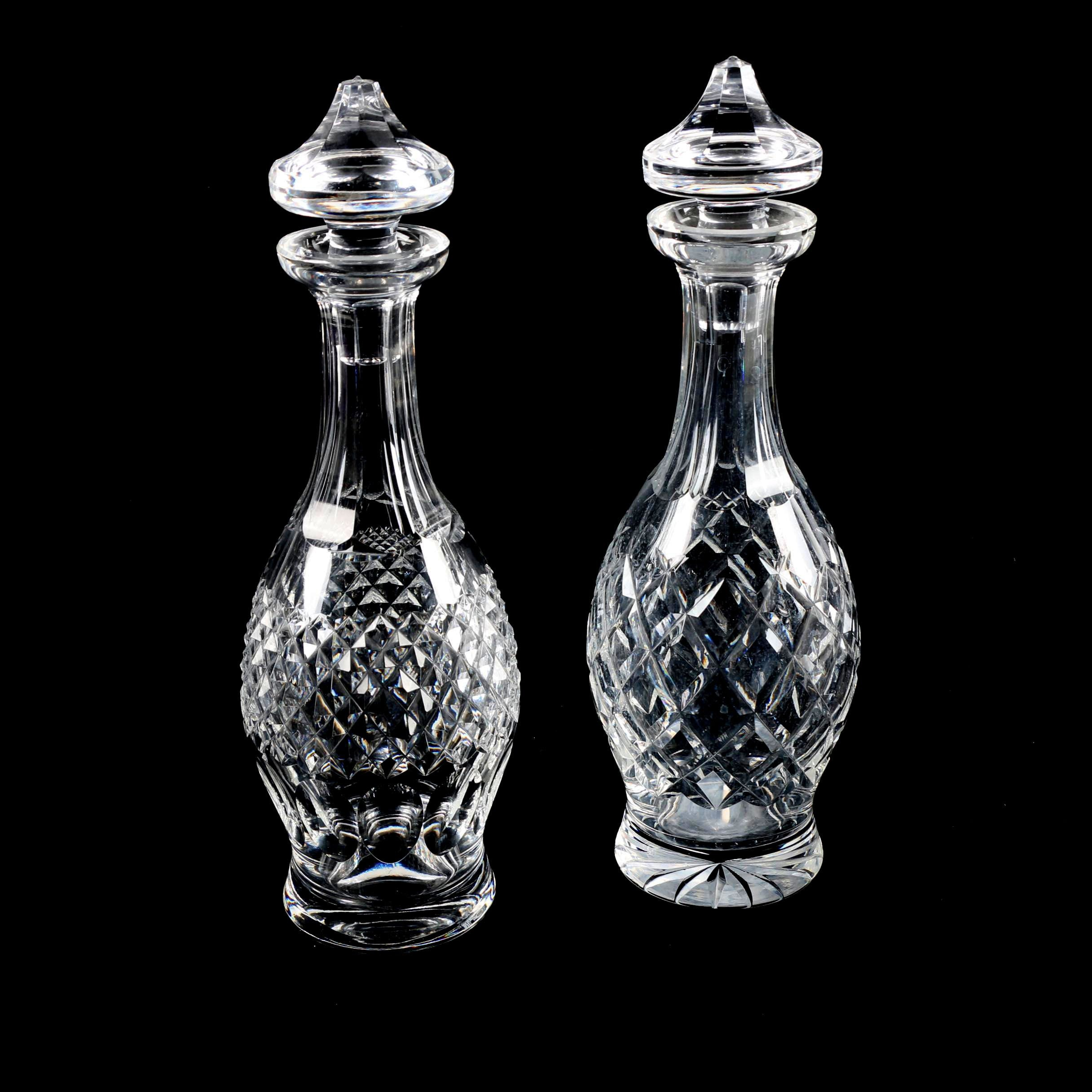 """Waterford Crystal """"Comeragh"""" and """"Colleen"""" Decanters"""