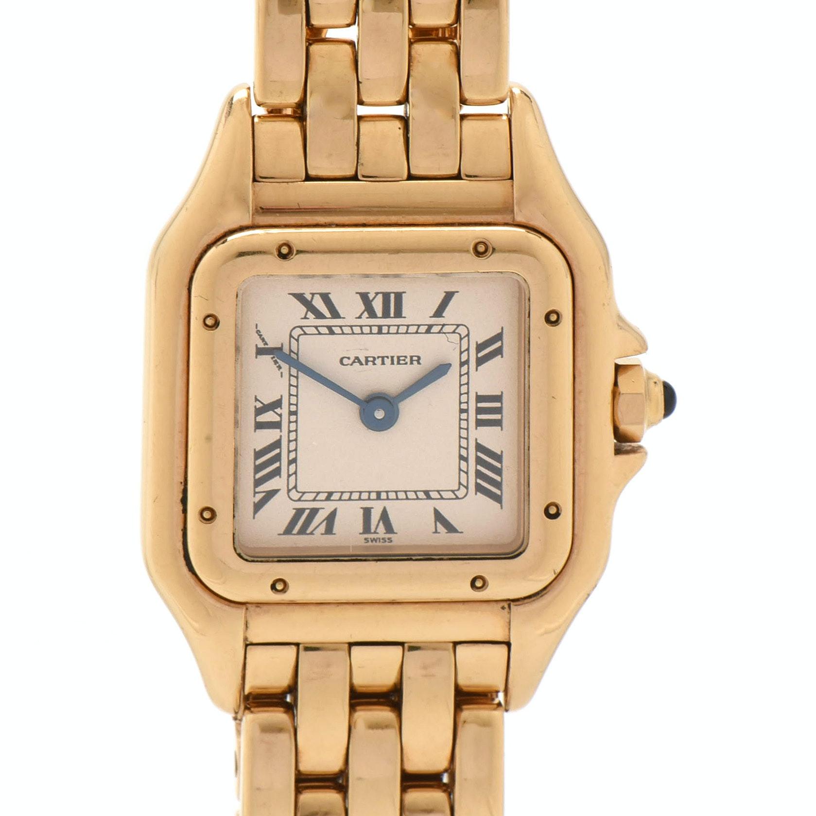 Cartier Panthère Link 18K Yellow Gold Wristwatch