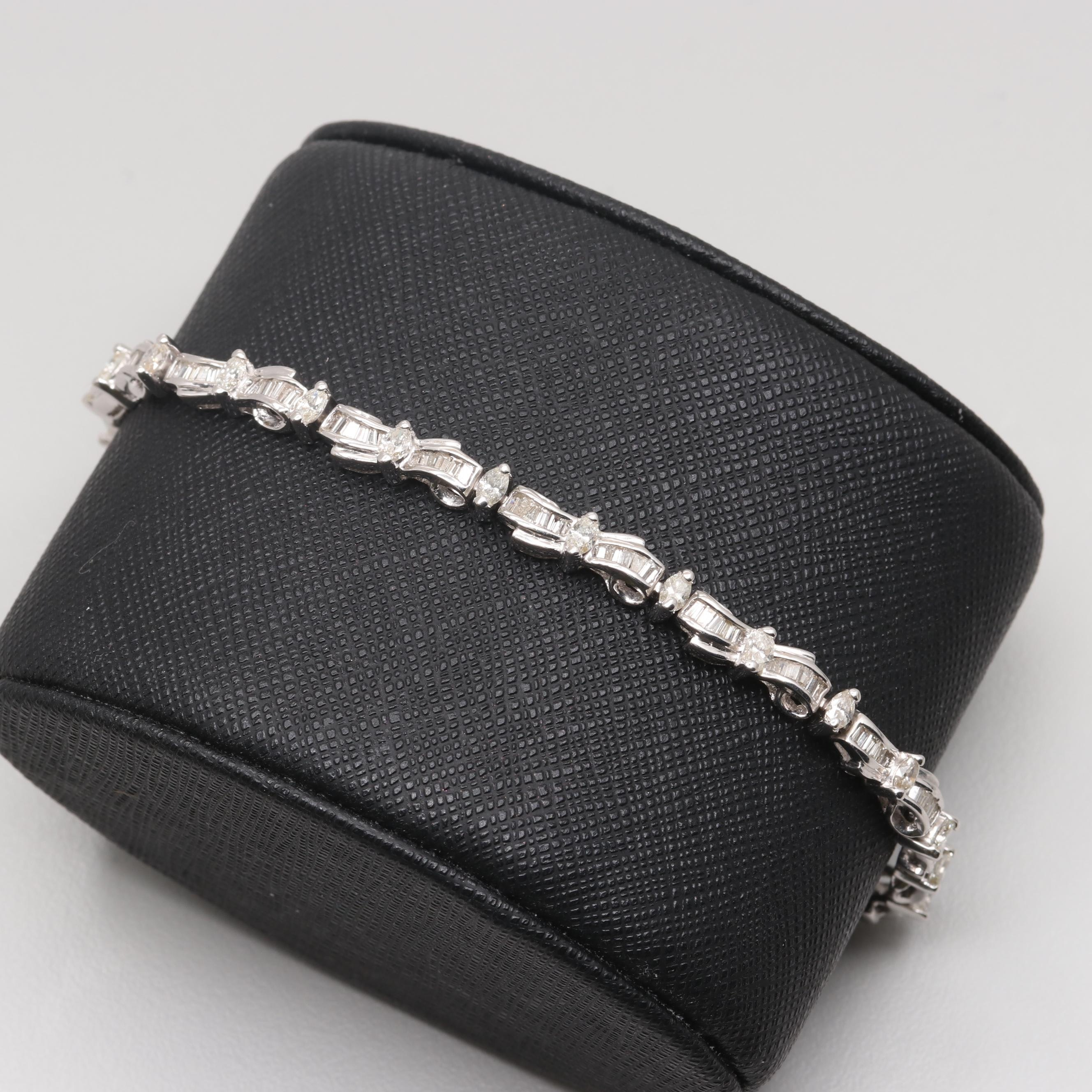 18K White Gold 2.96 CTW Diamond Bracelet