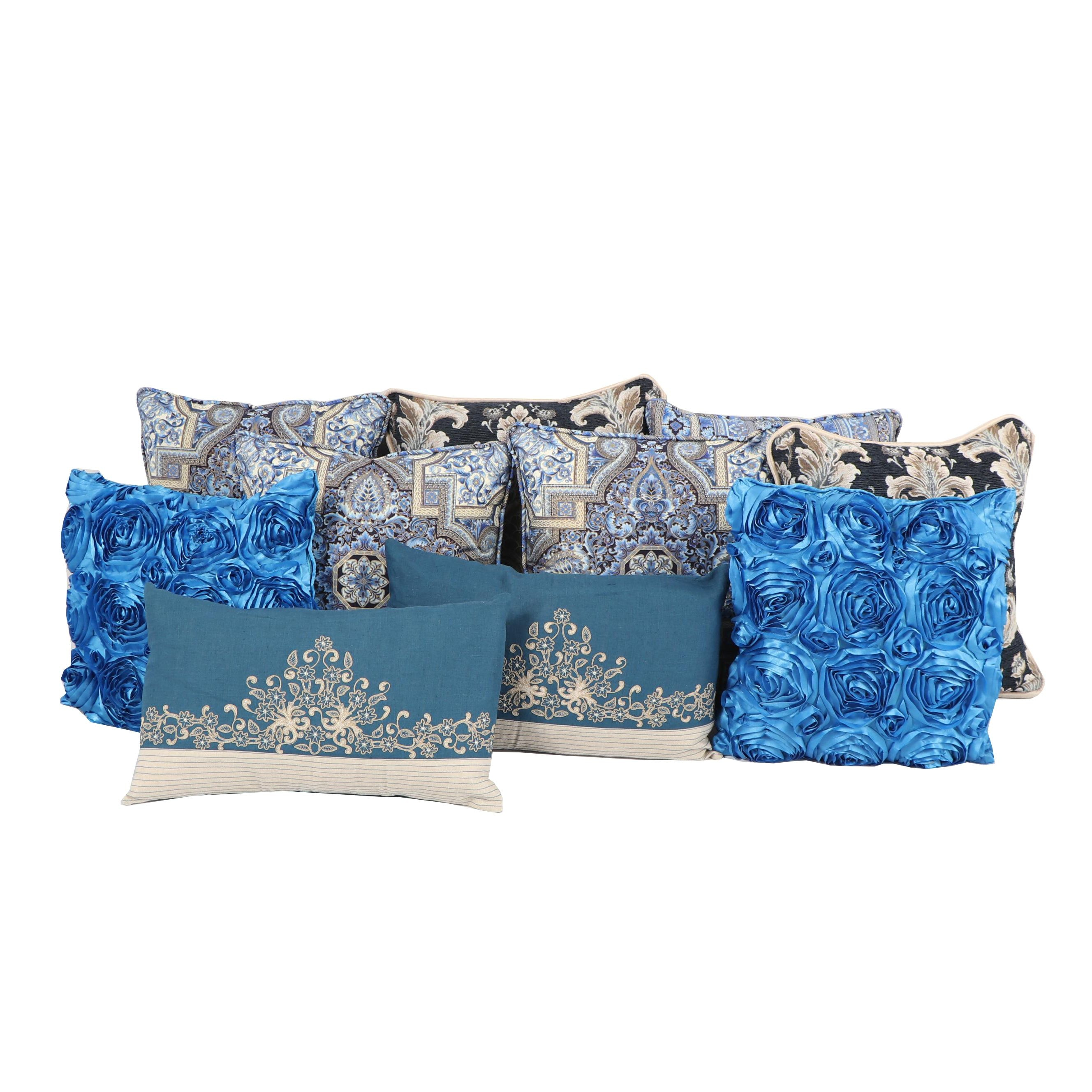 Embellished Accent Pillows Featuring Safavieh