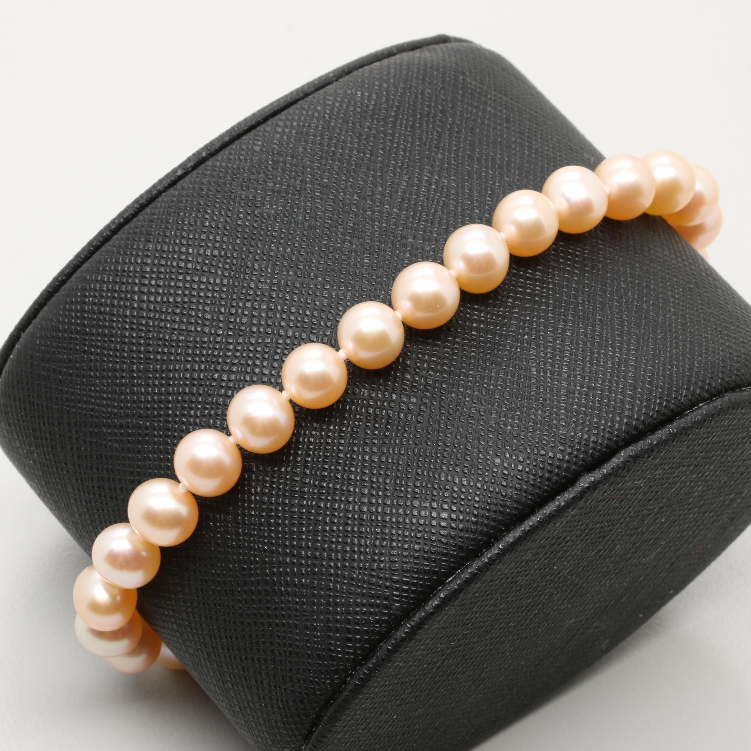 14K Yellow Gold Cultured Pearl Bracelet