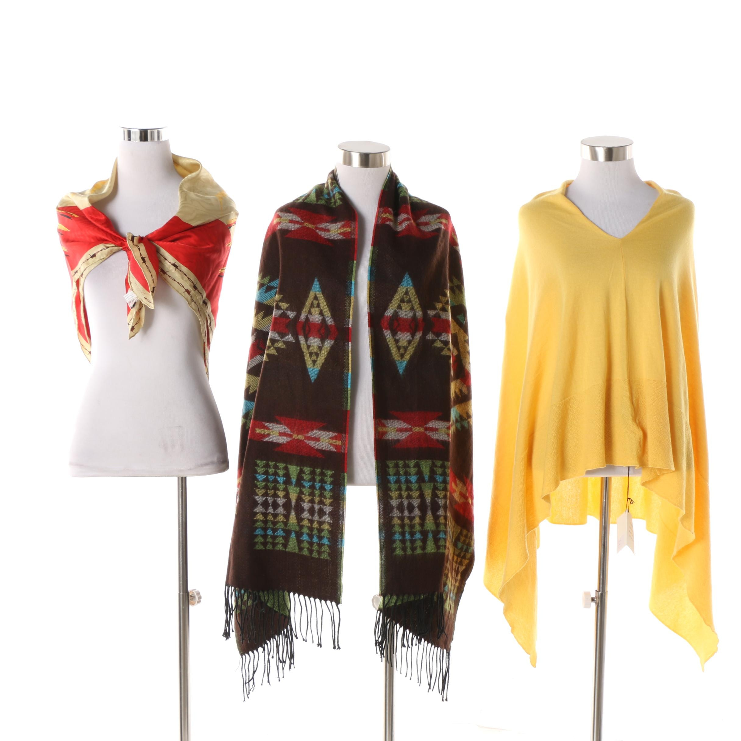 Rockmount Ranch Wear Rodeo Scarf, Scully Shawl and McCulley's Poncho