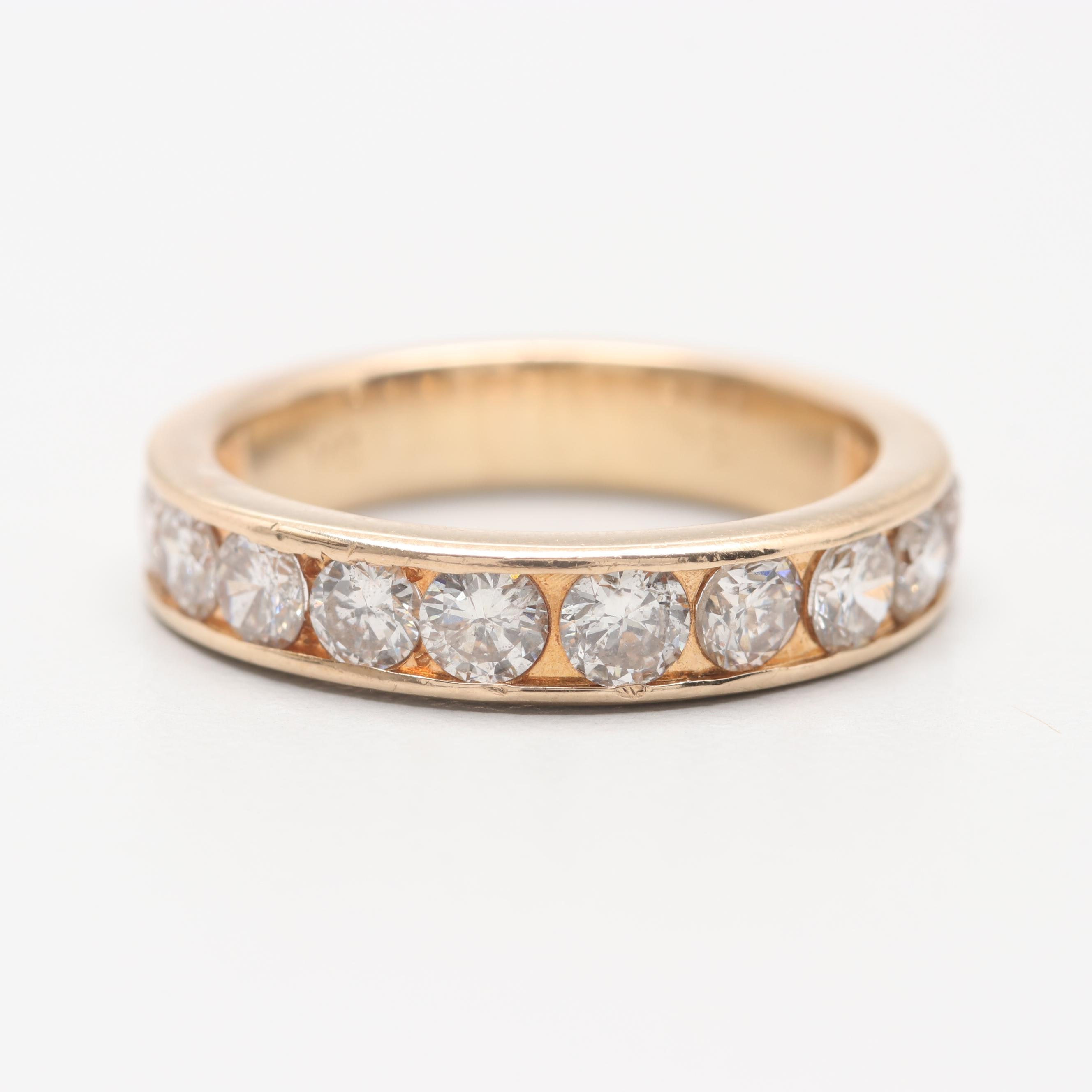 14K Yellow Gold 1.46 CTW Diamond Ring
