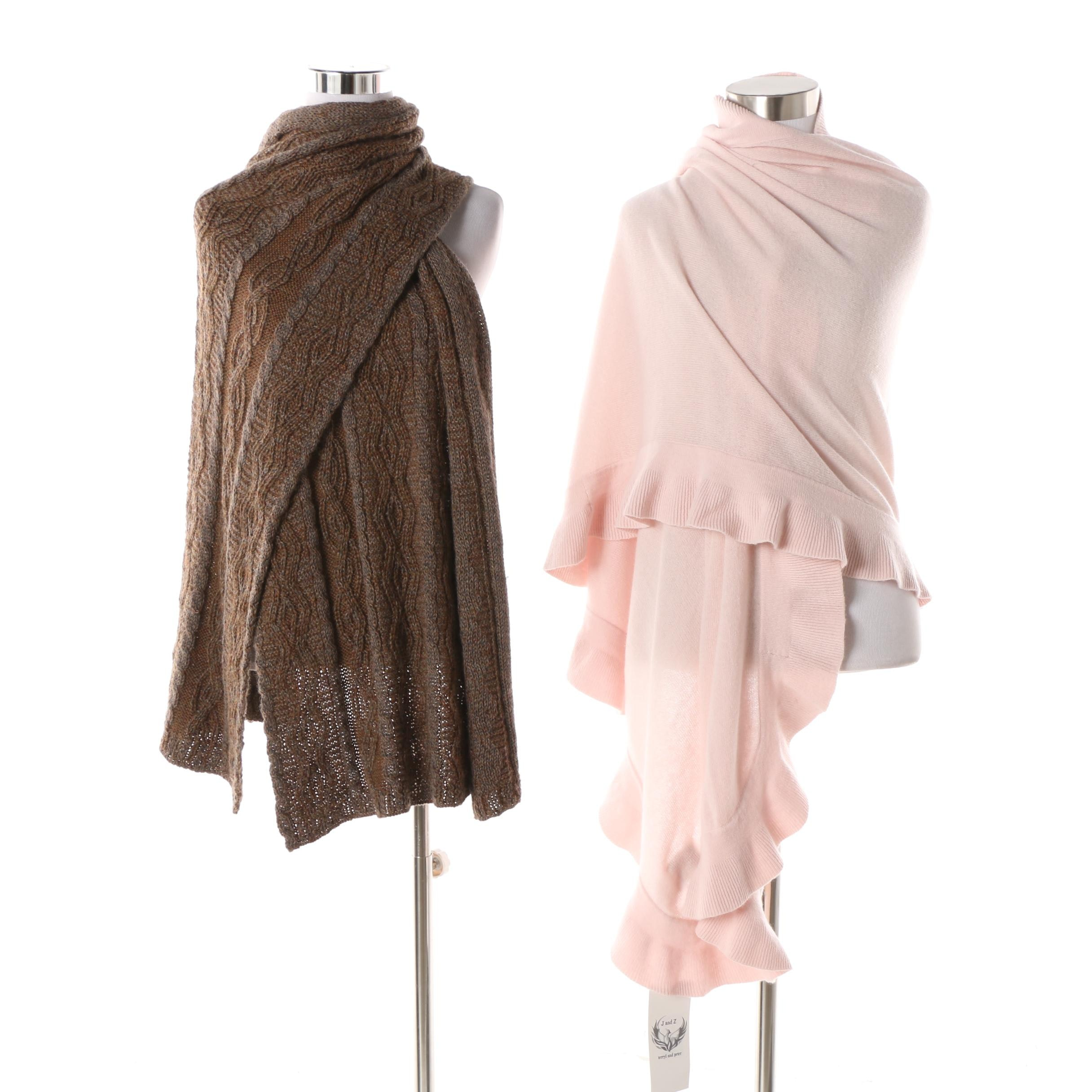Terryl and Peter Cashmere and Inis Meáin Wool Blend Shawls