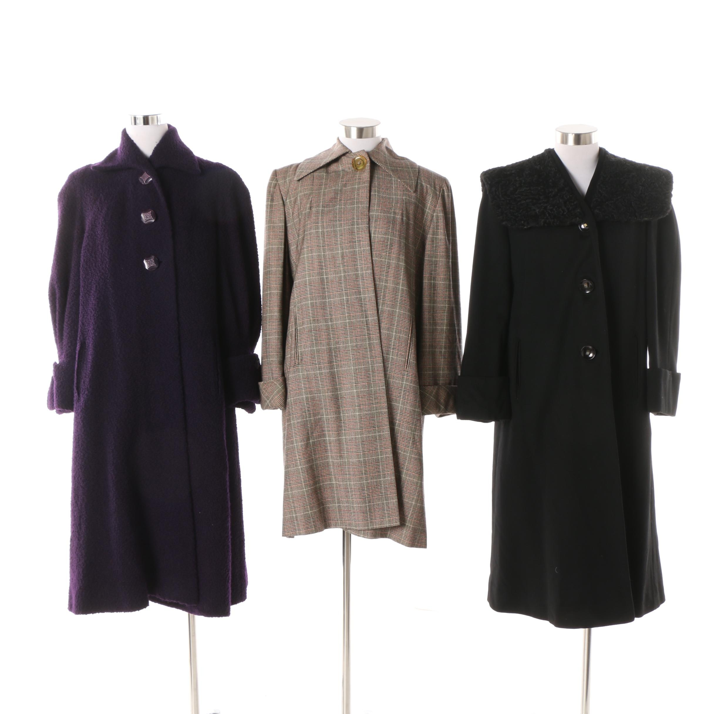 Women's Vintage Wool Coats including Fredleys and Forstmann
