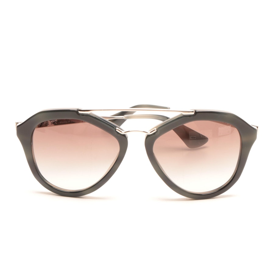3bb5c6dbb51f7 Prada Aviator-Style Sunglasses   EBTH
